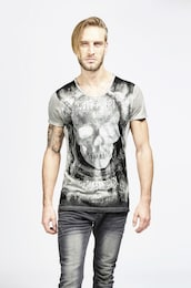 - trueprodigy Herren T-Shirt Lost in Black grau | 04057124029390