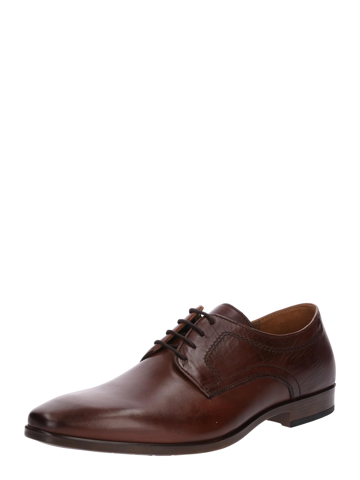 Šněrovací boty 7165 koňaková Pier One