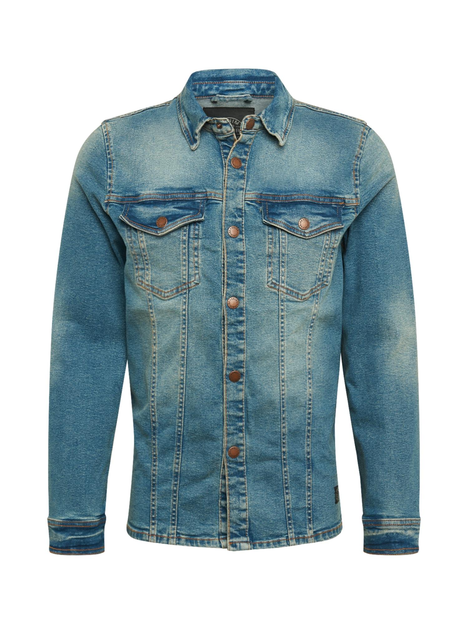 SHINE ORIGINAL Demisezoninė striukė tamsiai (džinso) mėlyna