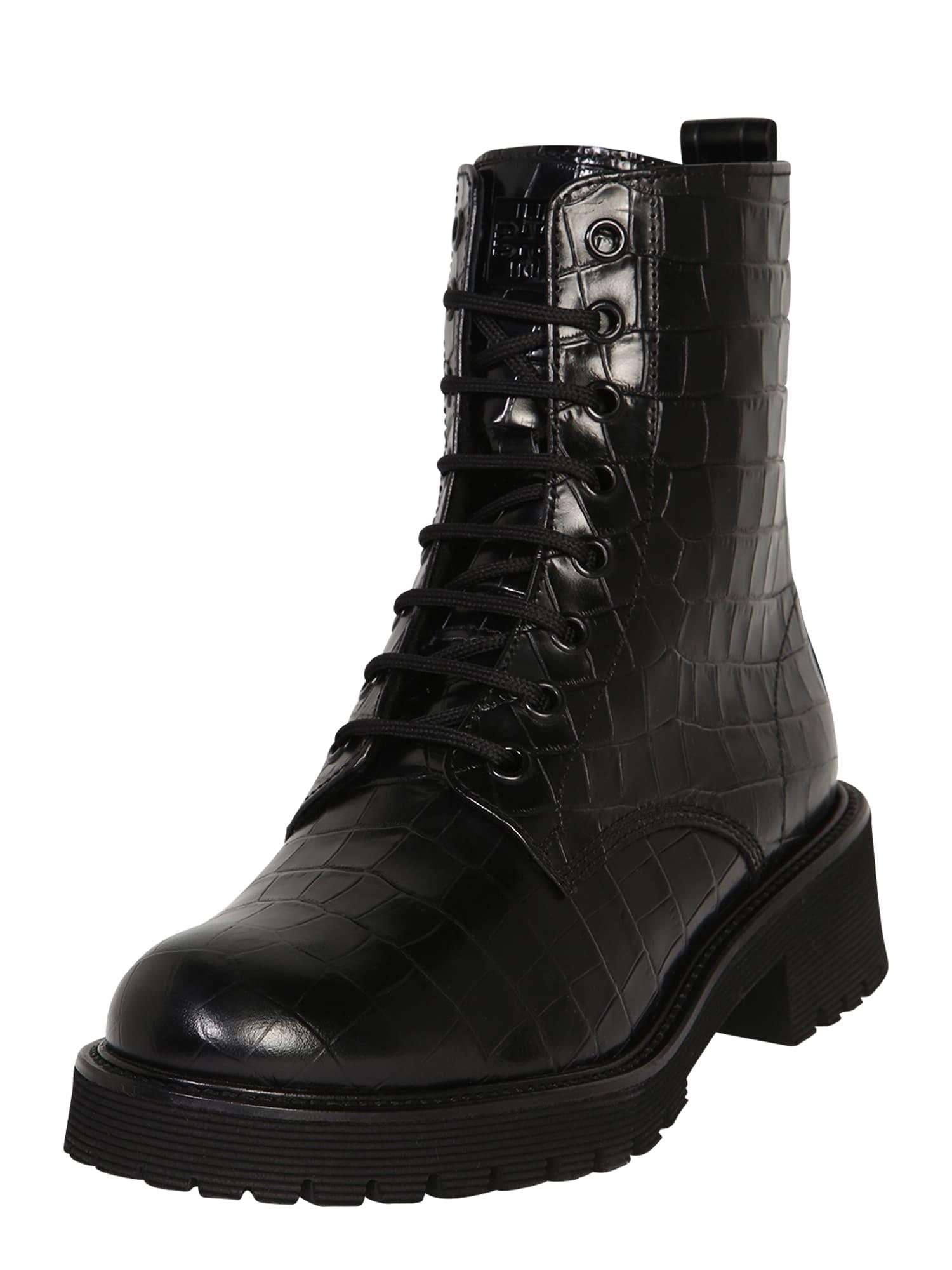 Högl Suvarstomieji kulkšnis dengiantys batai juoda