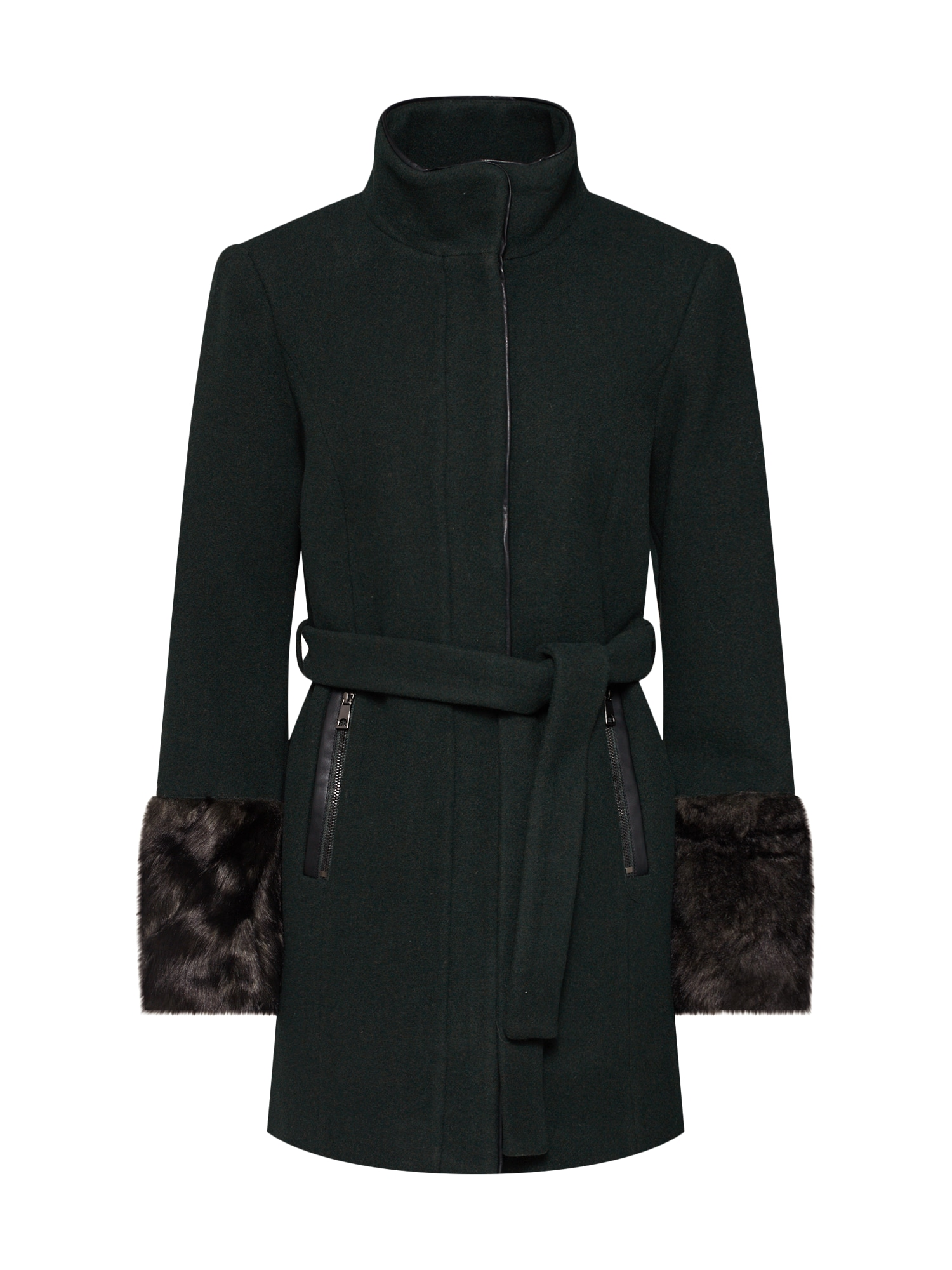 Zimní kabát barvy bláta černá VERO MODA