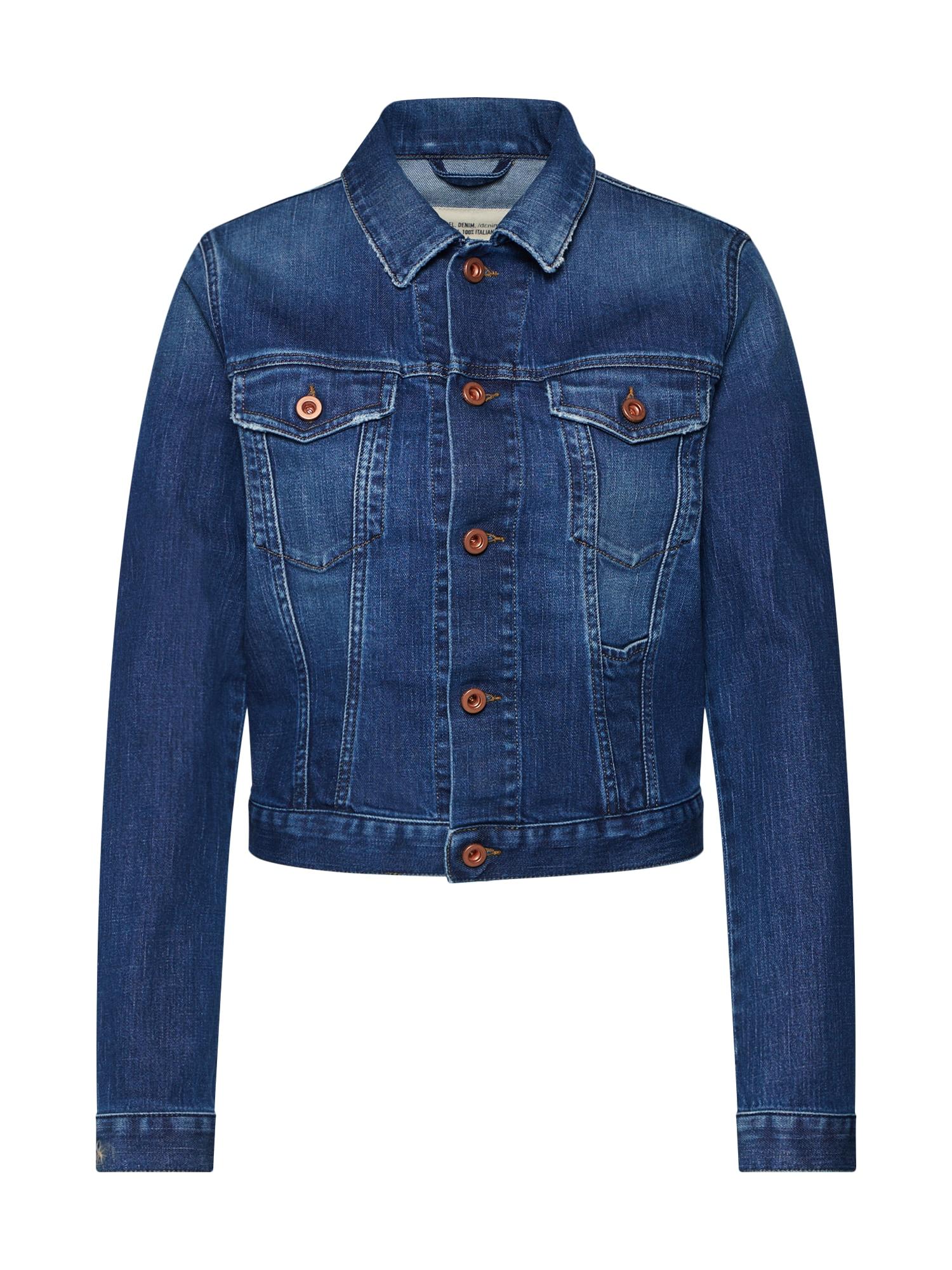DIESEL Demisezoninė striukė 'DE-LIMMY JACKET' tamsiai (džinso) mėlyna