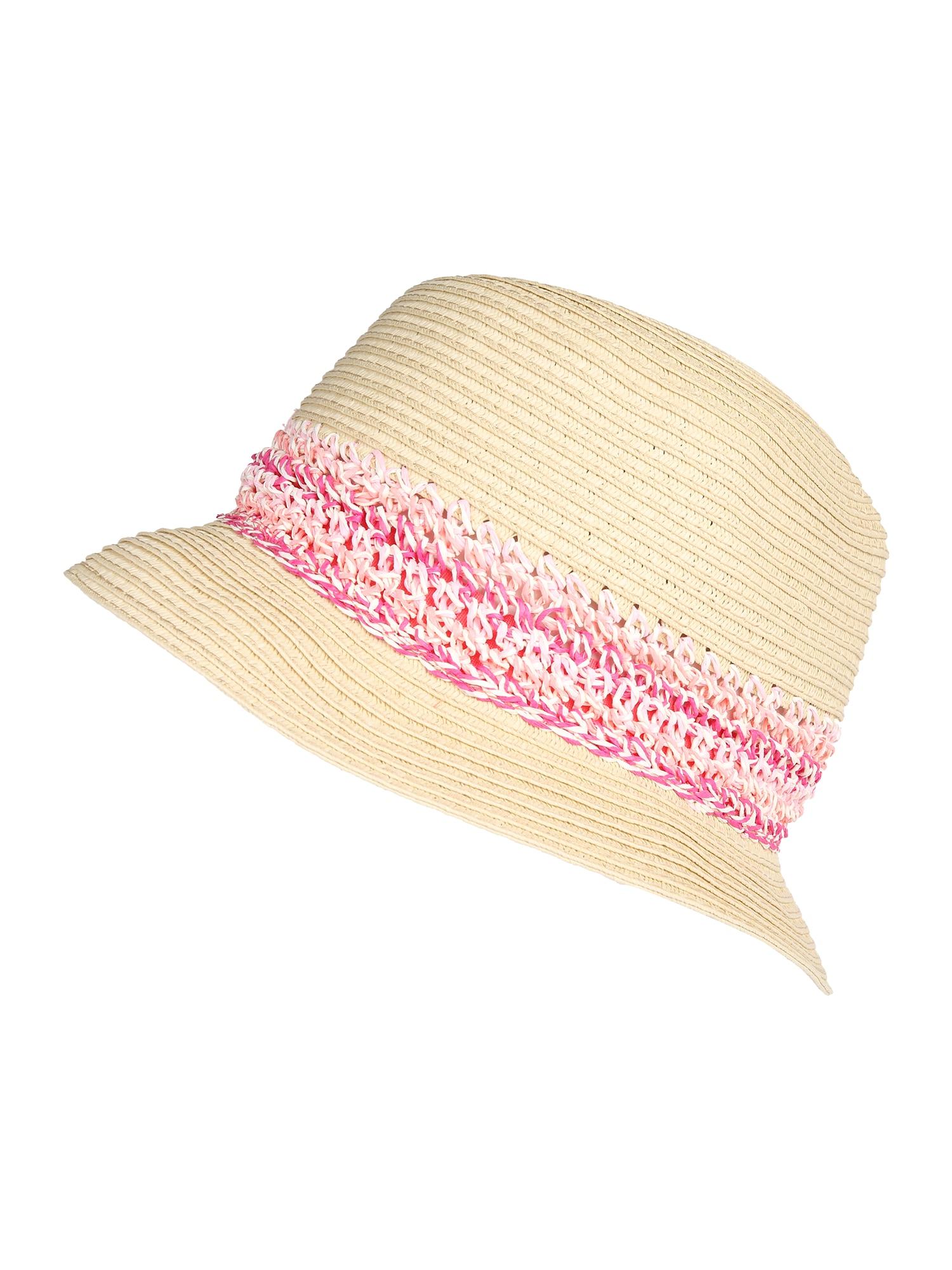 Klobouk CrochStrpTrillb béžová pink ESPRIT