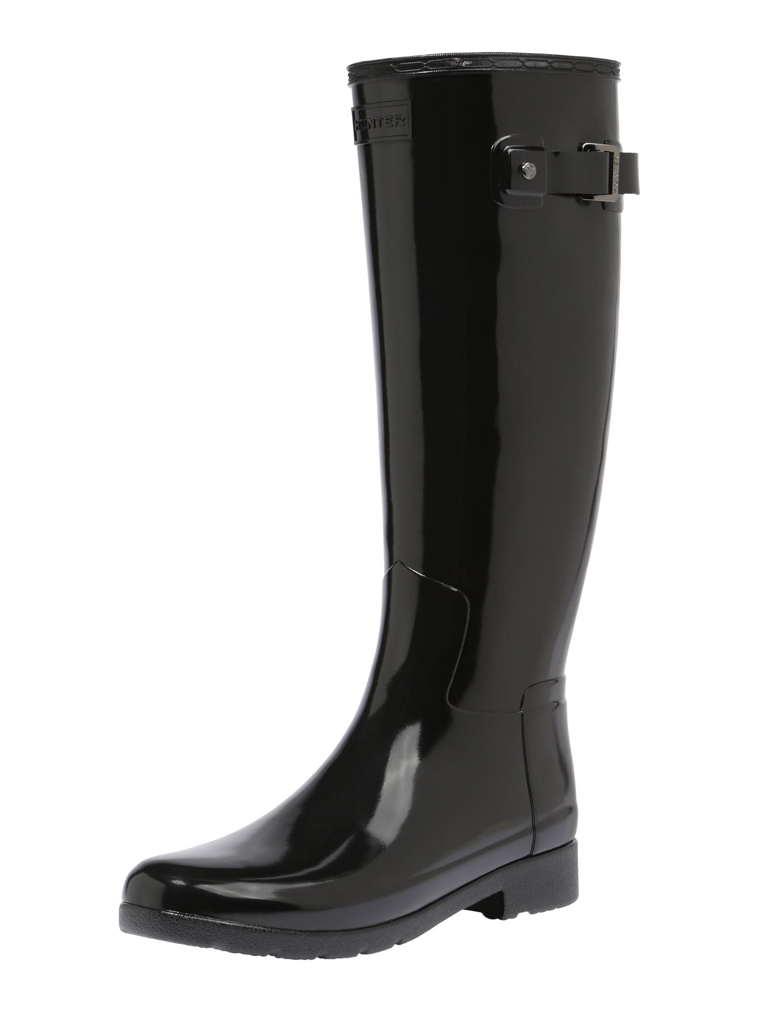 HUNTER Guminiai batai 'ORIGINAL REFINED GLOSS' juoda