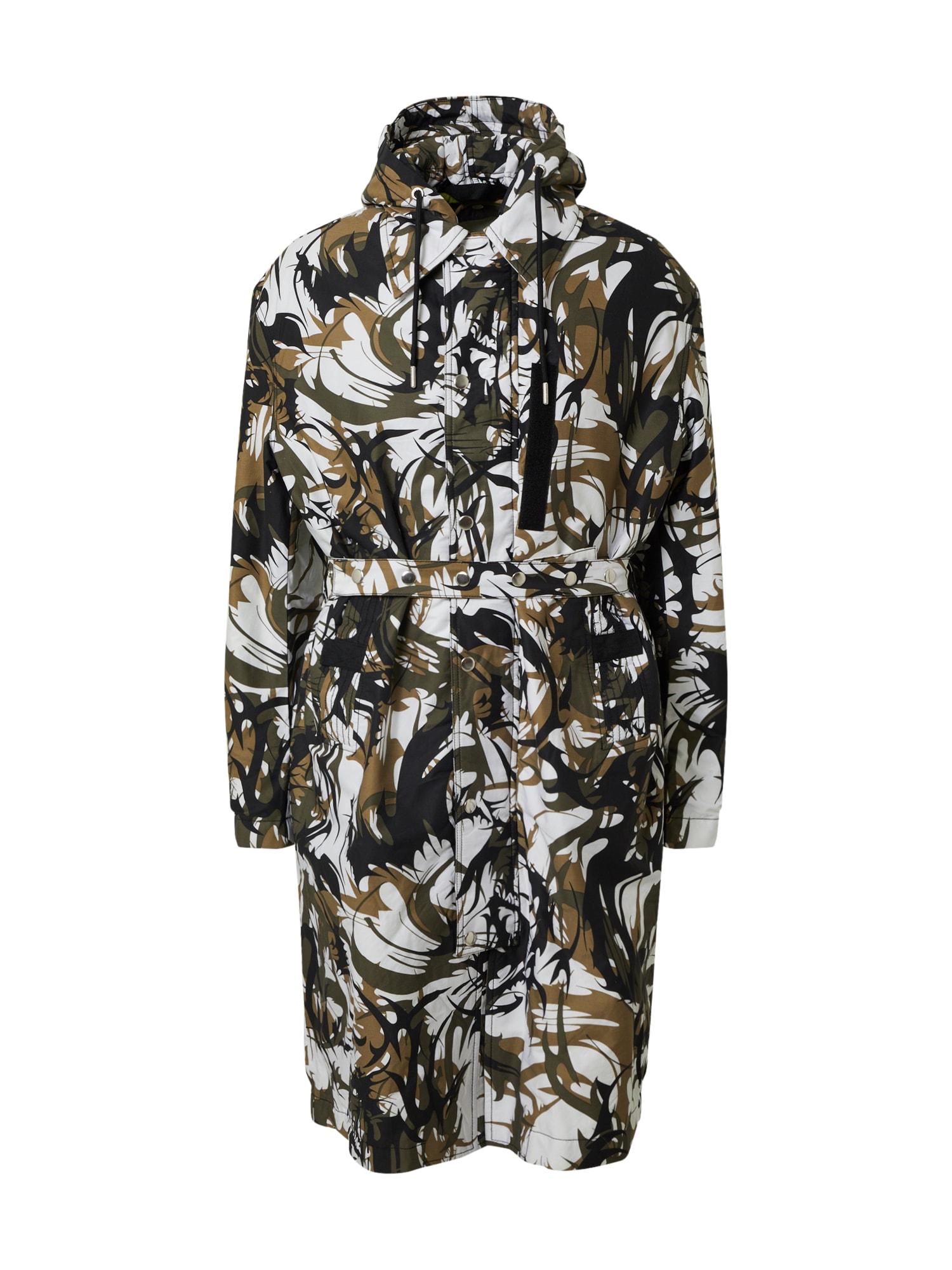 DIESEL Přechodný kabát 'W-TORRENCE'  olivová / černá / bílá