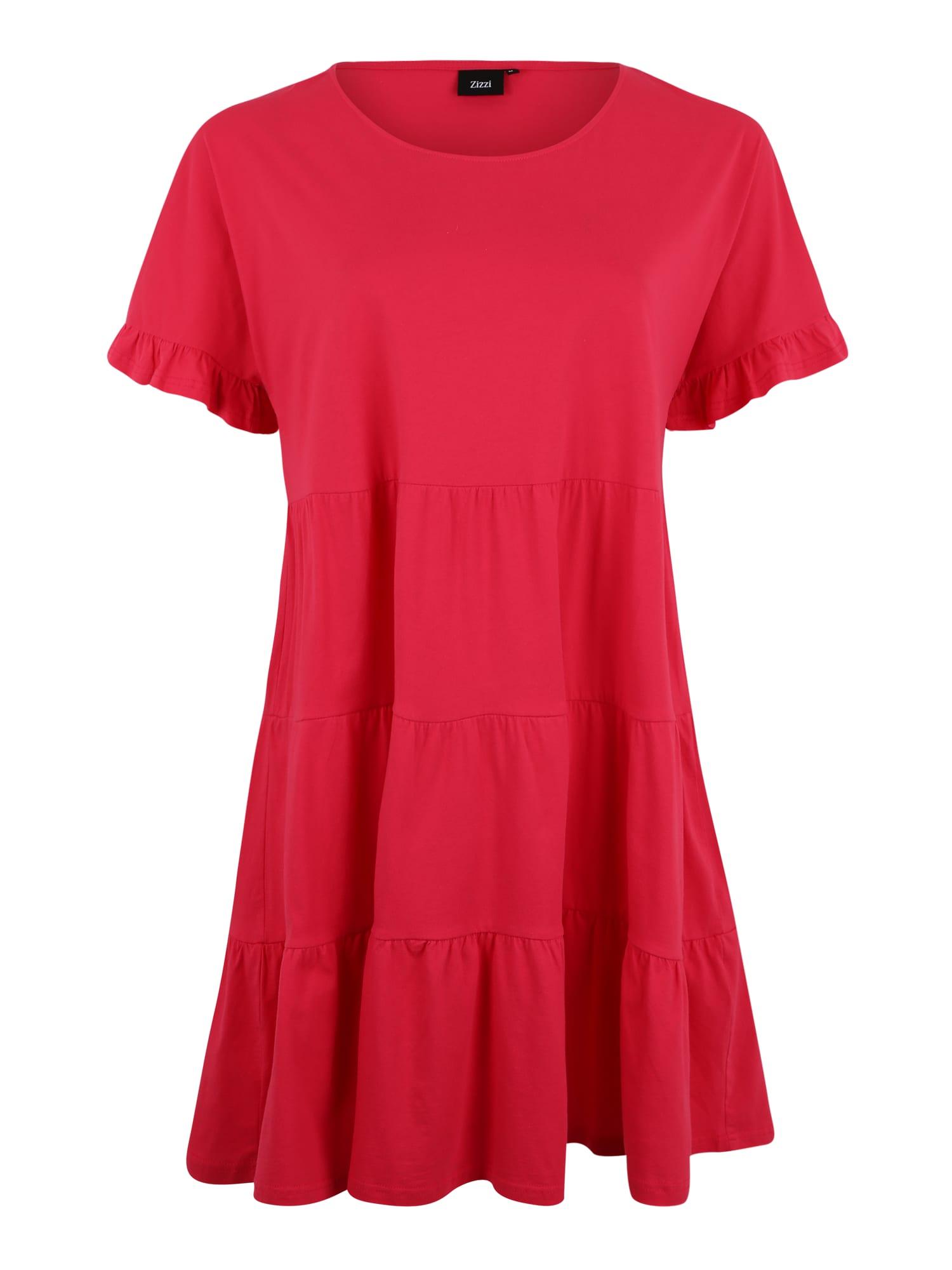 Letní šaty MAJA malinová Zizzi