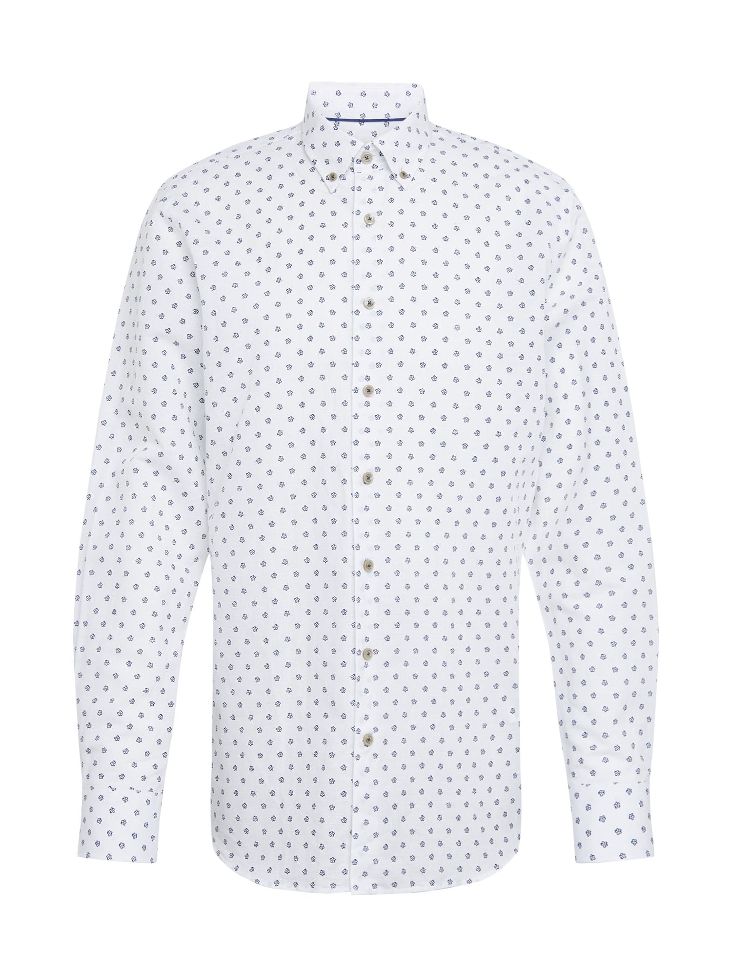 bugatti Marškiniai tamsiai mėlyna / balta