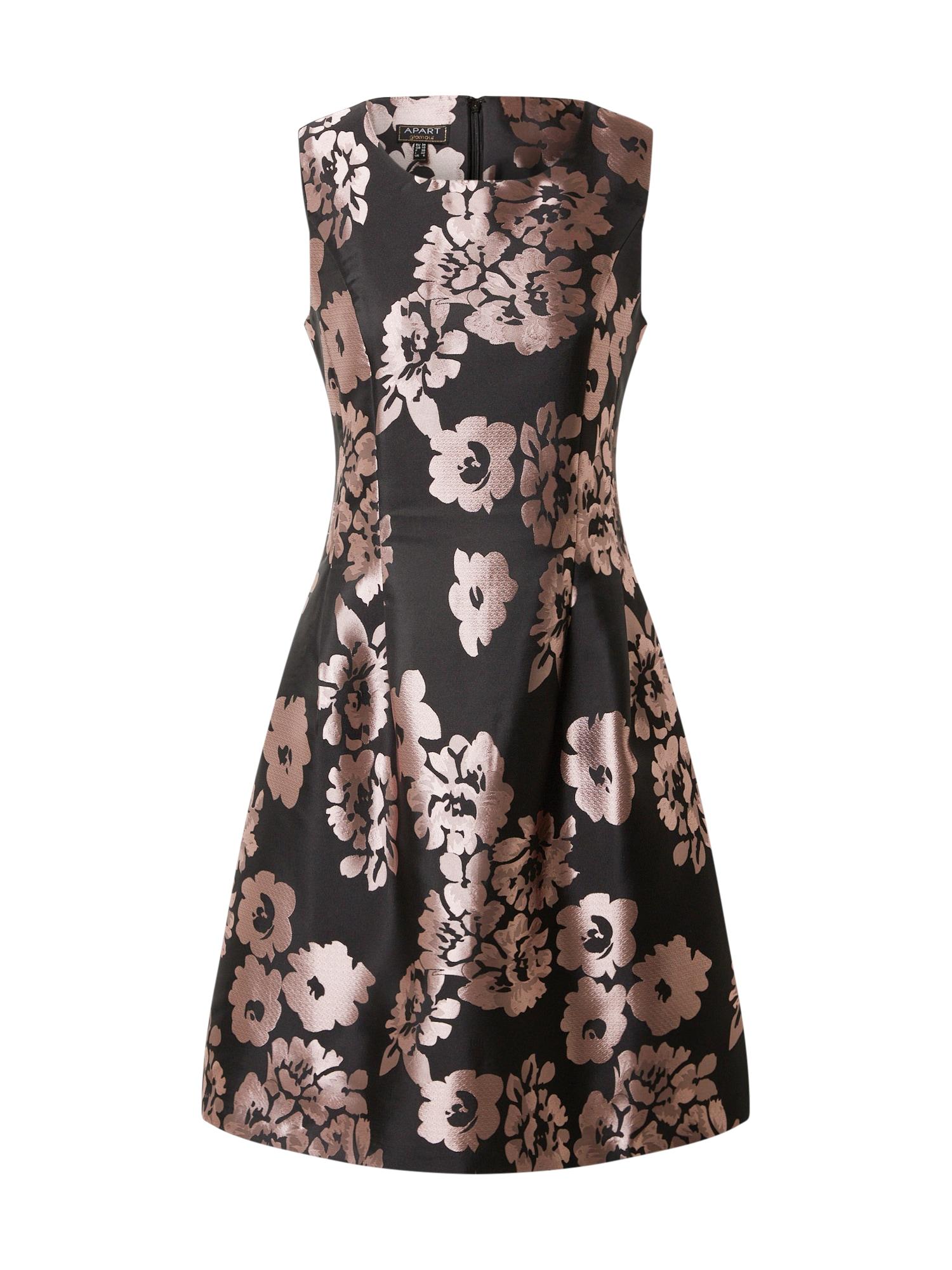 APART Kokteilinė suknelė juoda / rausvai violetinė spalva