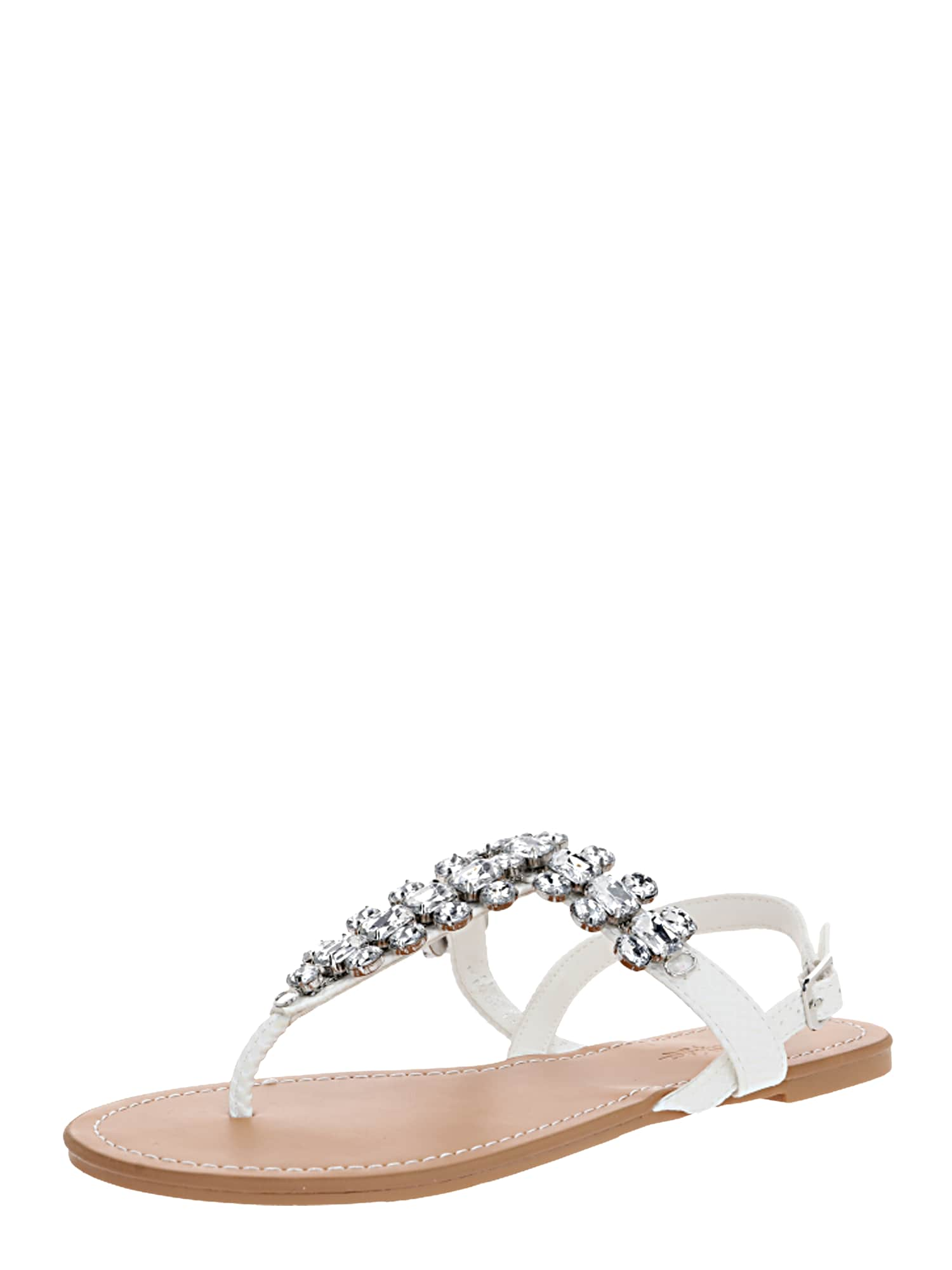 Miss Selfridge Žabky 'ELI White Toe Post Gem Sandals'  biela