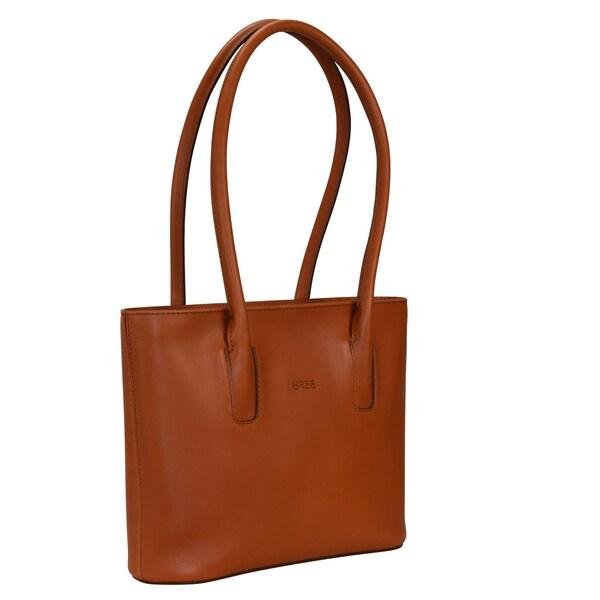 Schultertaschen für Frauen - BREE Cambridge 8 Schultertasche Leder 28 cm cognac  - Onlineshop ABOUT YOU