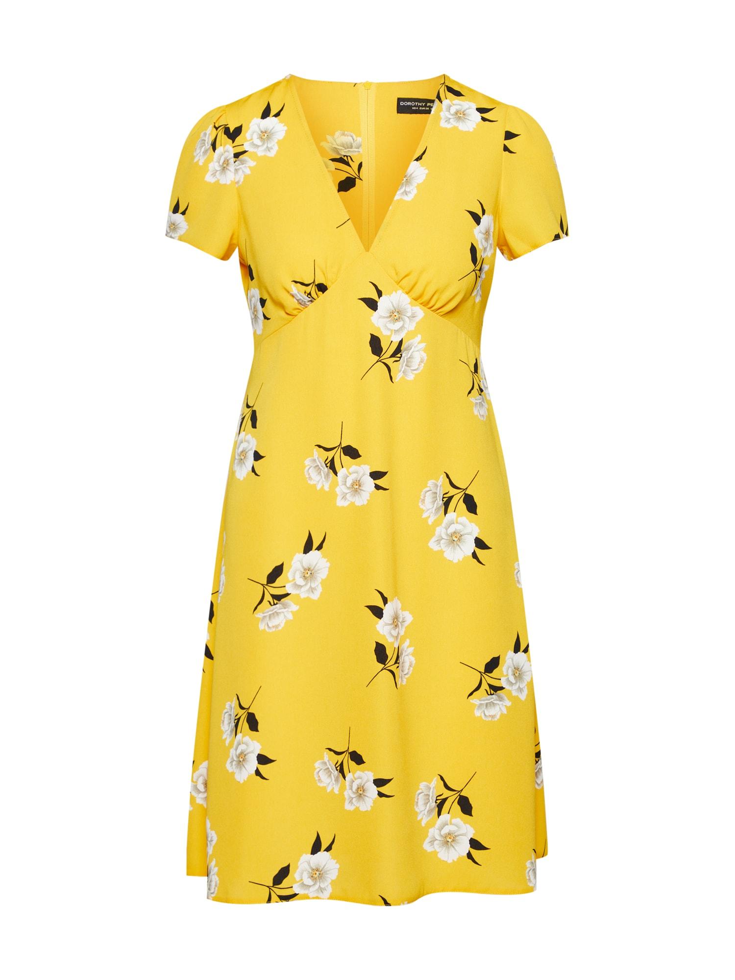 Šaty žlutá Dorothy Perkins