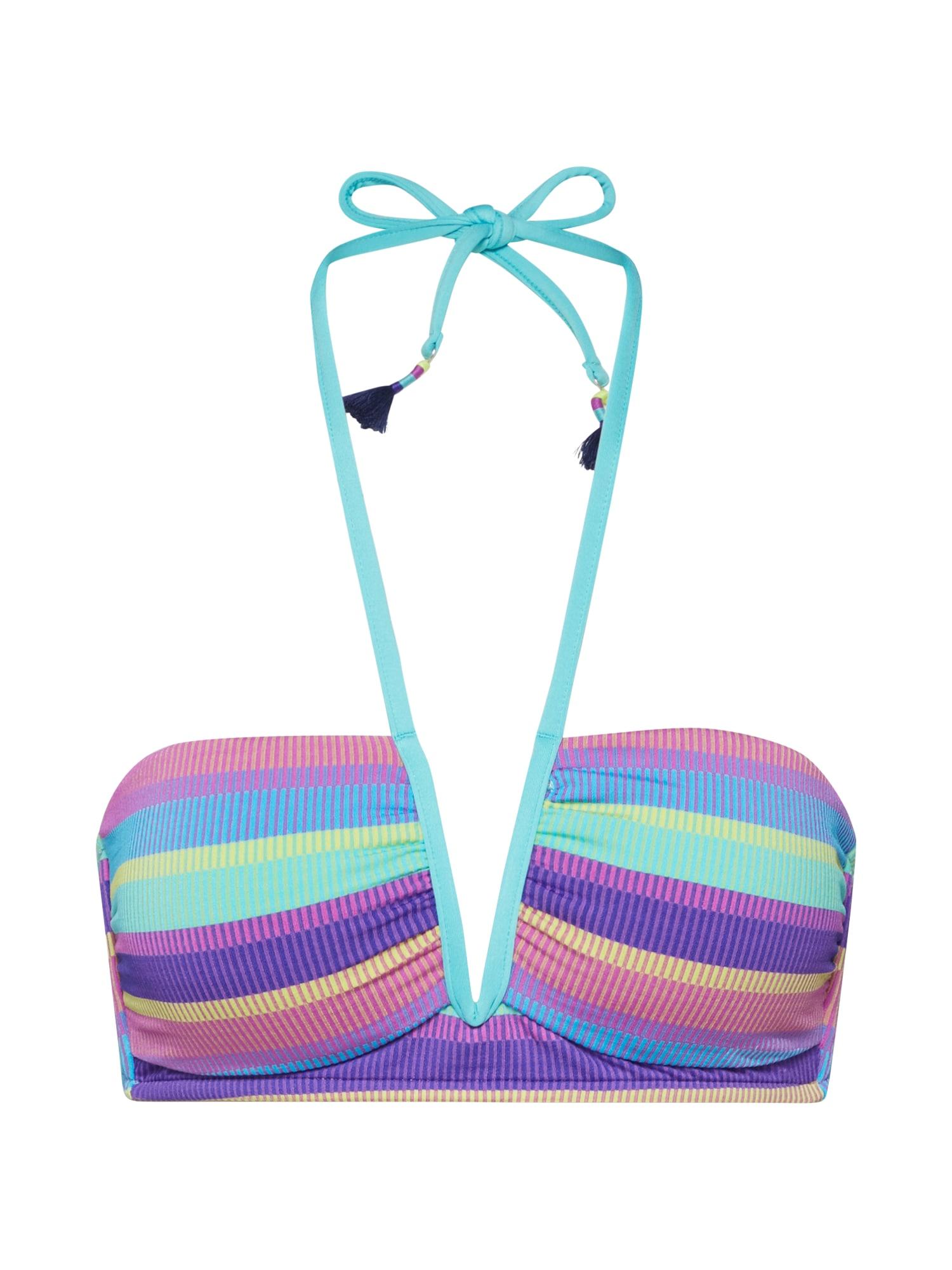 Seafolly Bikinis 'V Wire Halter' purpurinė / mėlyna / turkio spalva