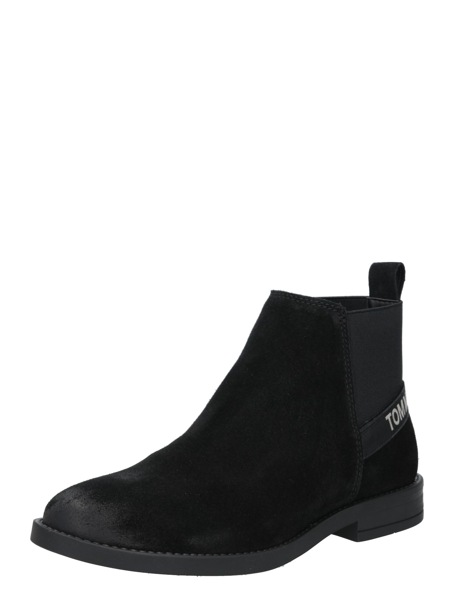 Tommy Jeans Chelsea boty  černá