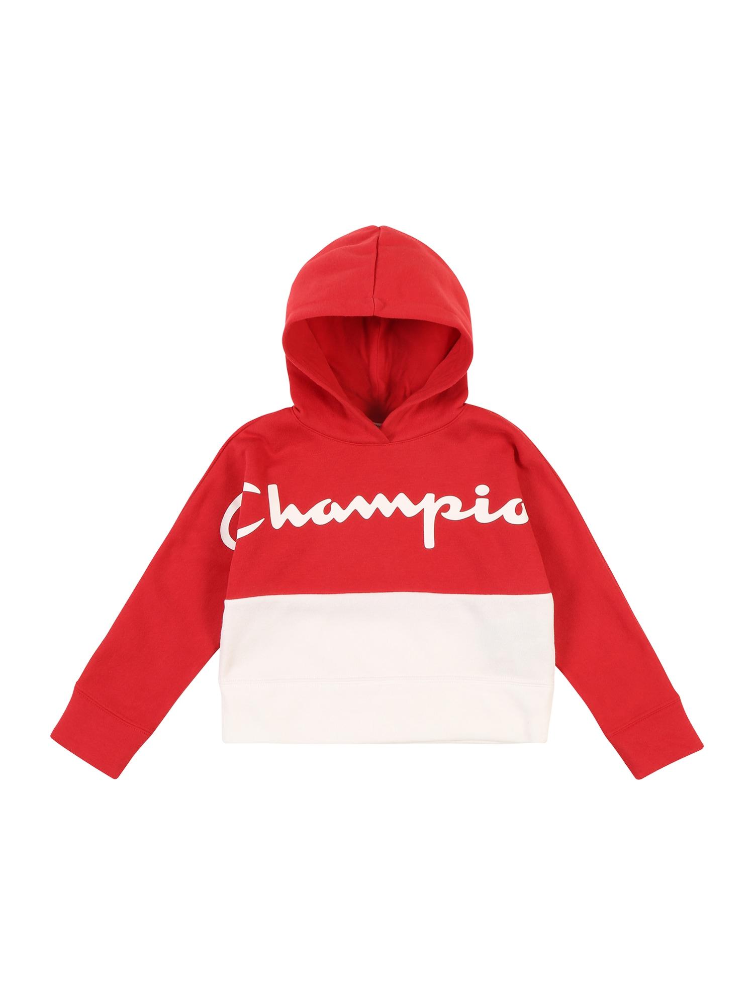 Champion Authentic Athletic Apparel Mikina  červené / biela