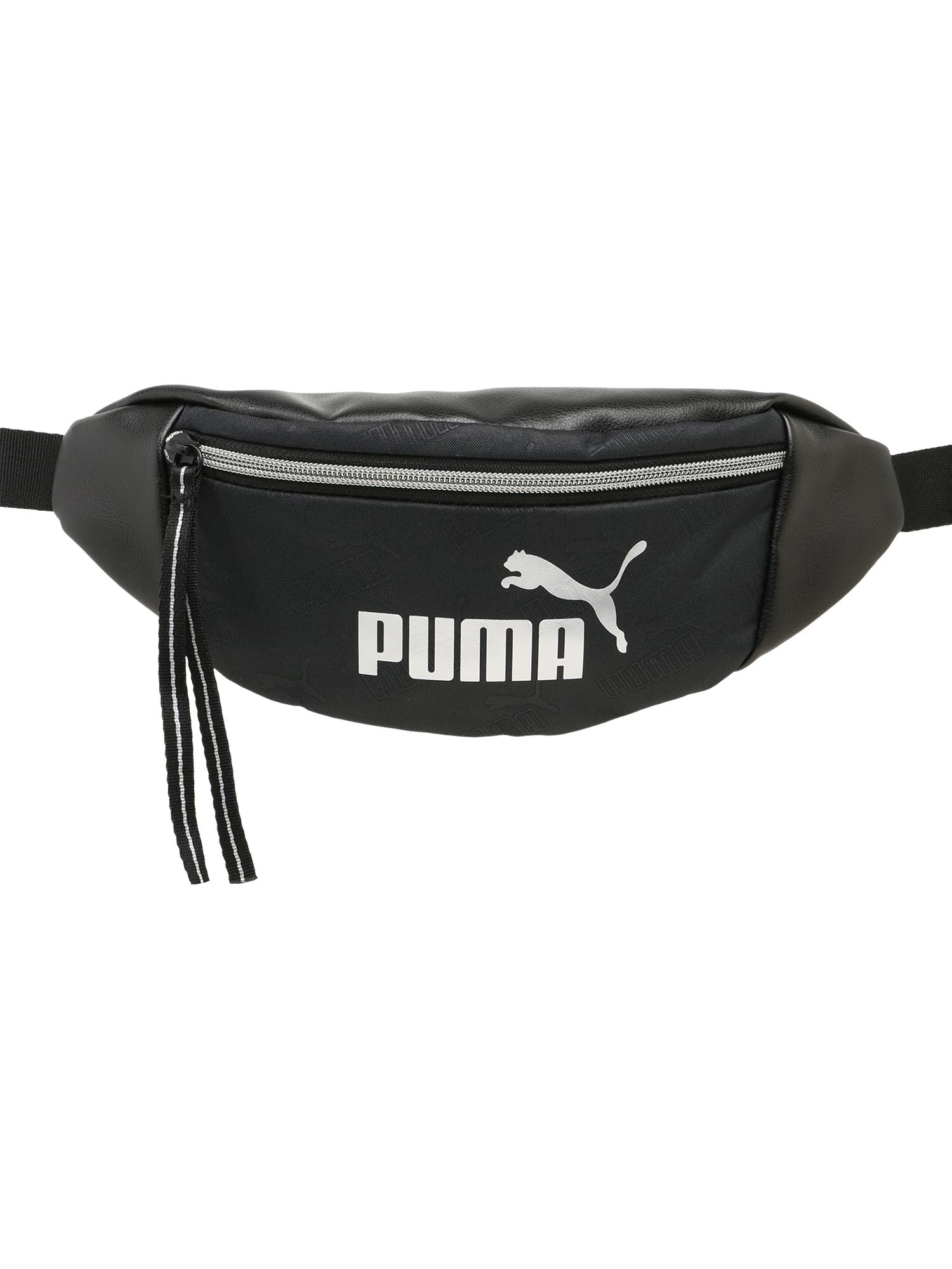 PUMA Sportinė rankinė ant juosmens juoda / balta