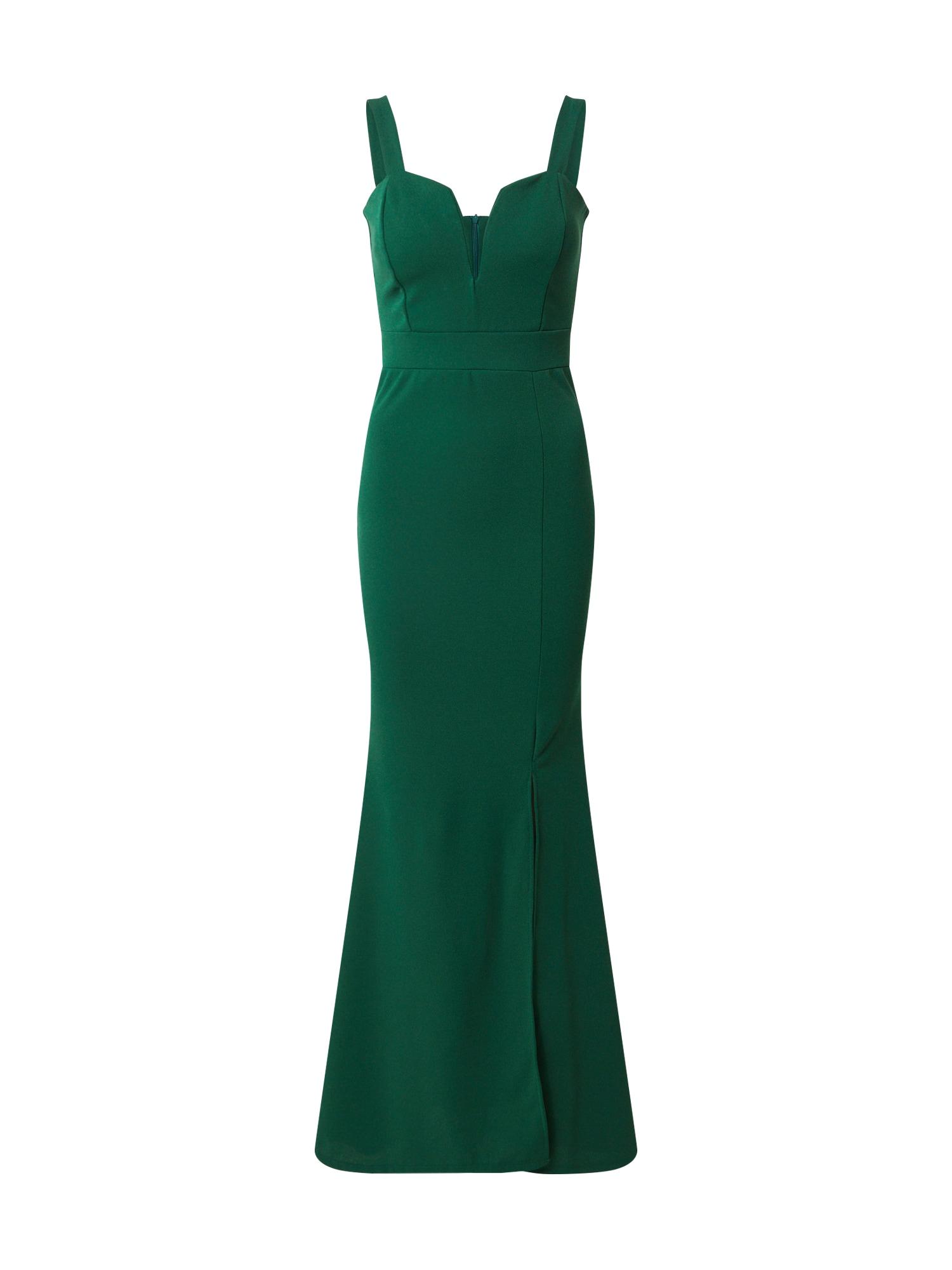 WAL G. Vakarinė suknelė tamsiai žalia