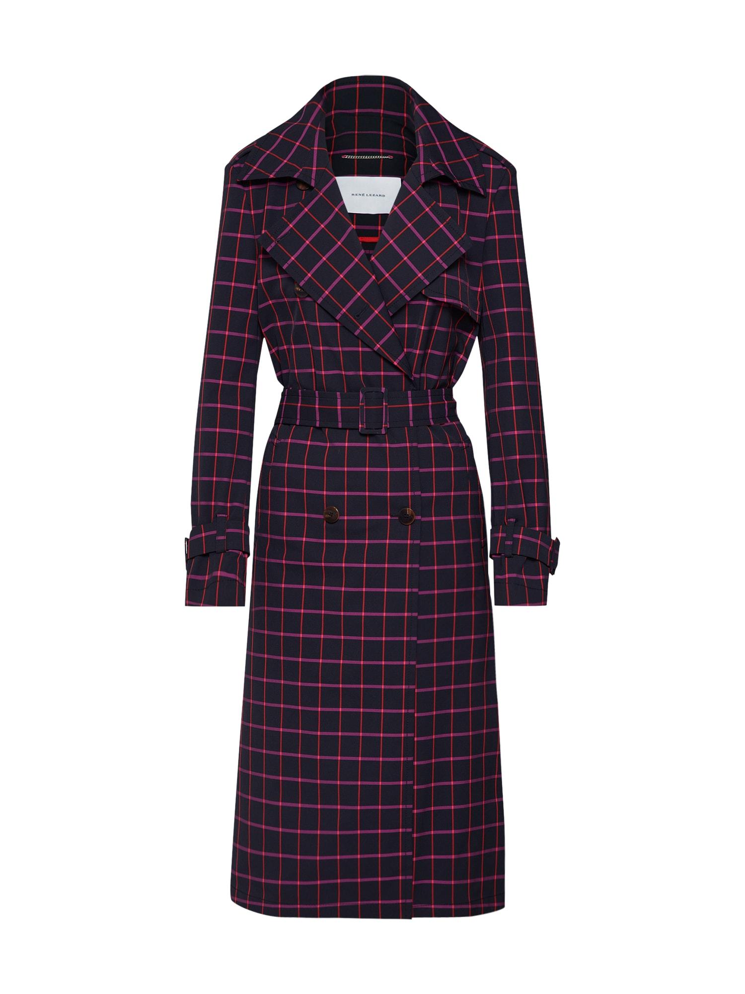 Přechodný kabát M006S fialová červená černá RENÉ LEZARD