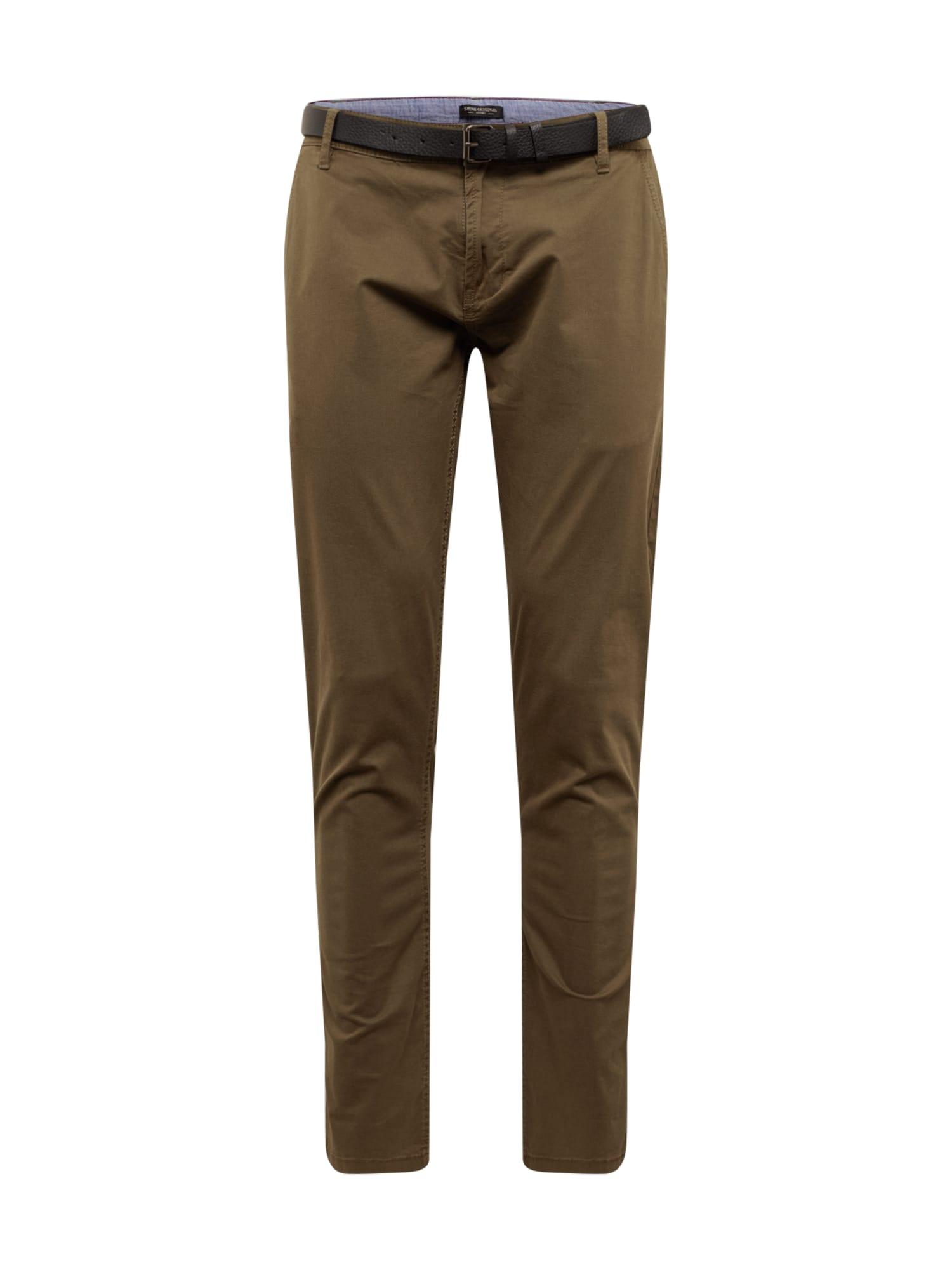 """SHINE ORIGINAL """"Chino"""" stiliaus kelnės rusvai žalia"""