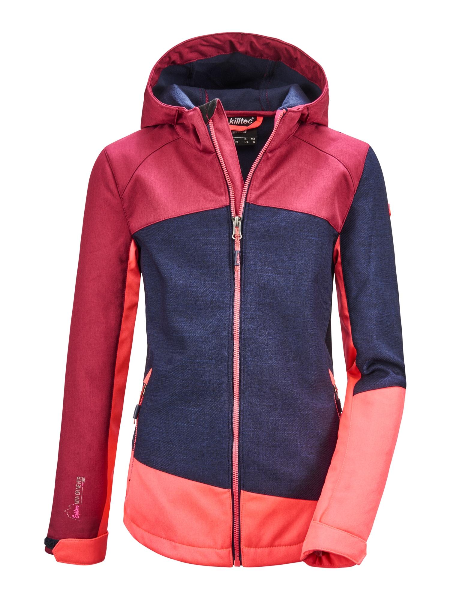 KILLTEC Outdoorová bunda 'Lynge'  tmavě modrá / karmínově červené / korálová