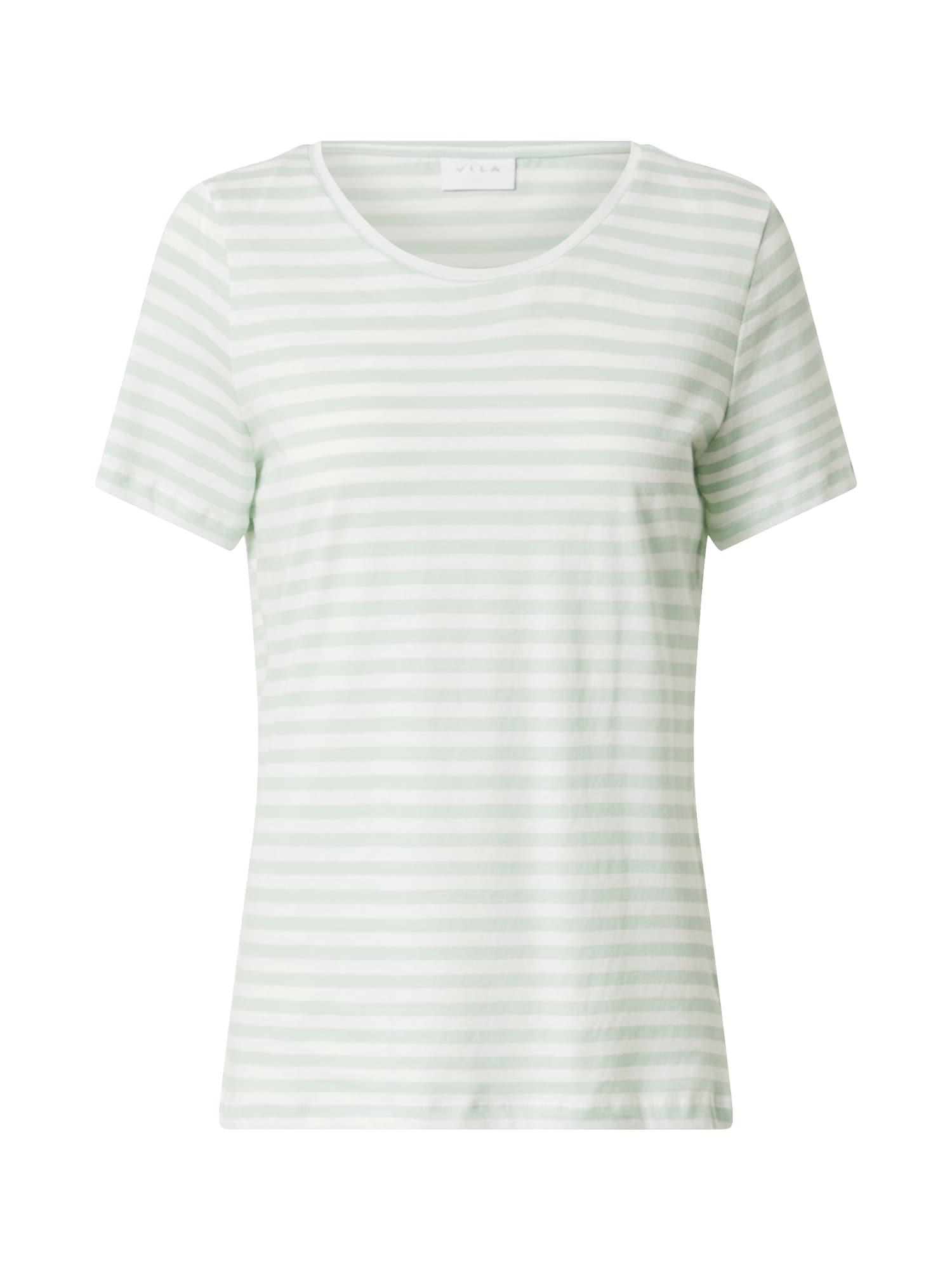 VILA Póló 'VISUS'  fehér / zöld
