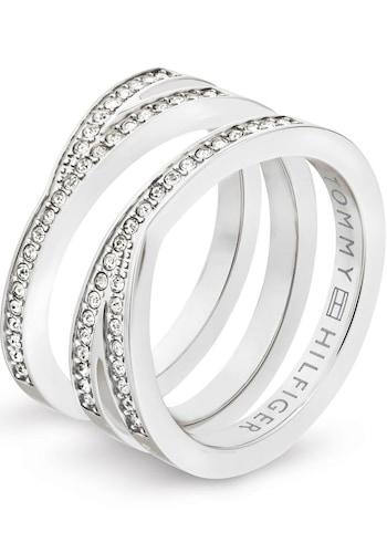Ringe für Frauen - TOMMY HILFIGER Fingerring »CLASSIC SIGNATURE, 2701098« silber  - Onlineshop ABOUT YOU
