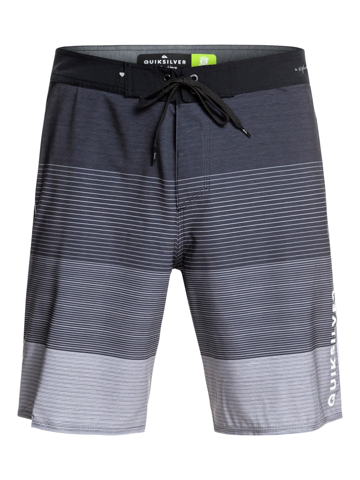 Sportovní plavky HIGHLINE MASSIVE 17 šedá černá QUIKSILVER
