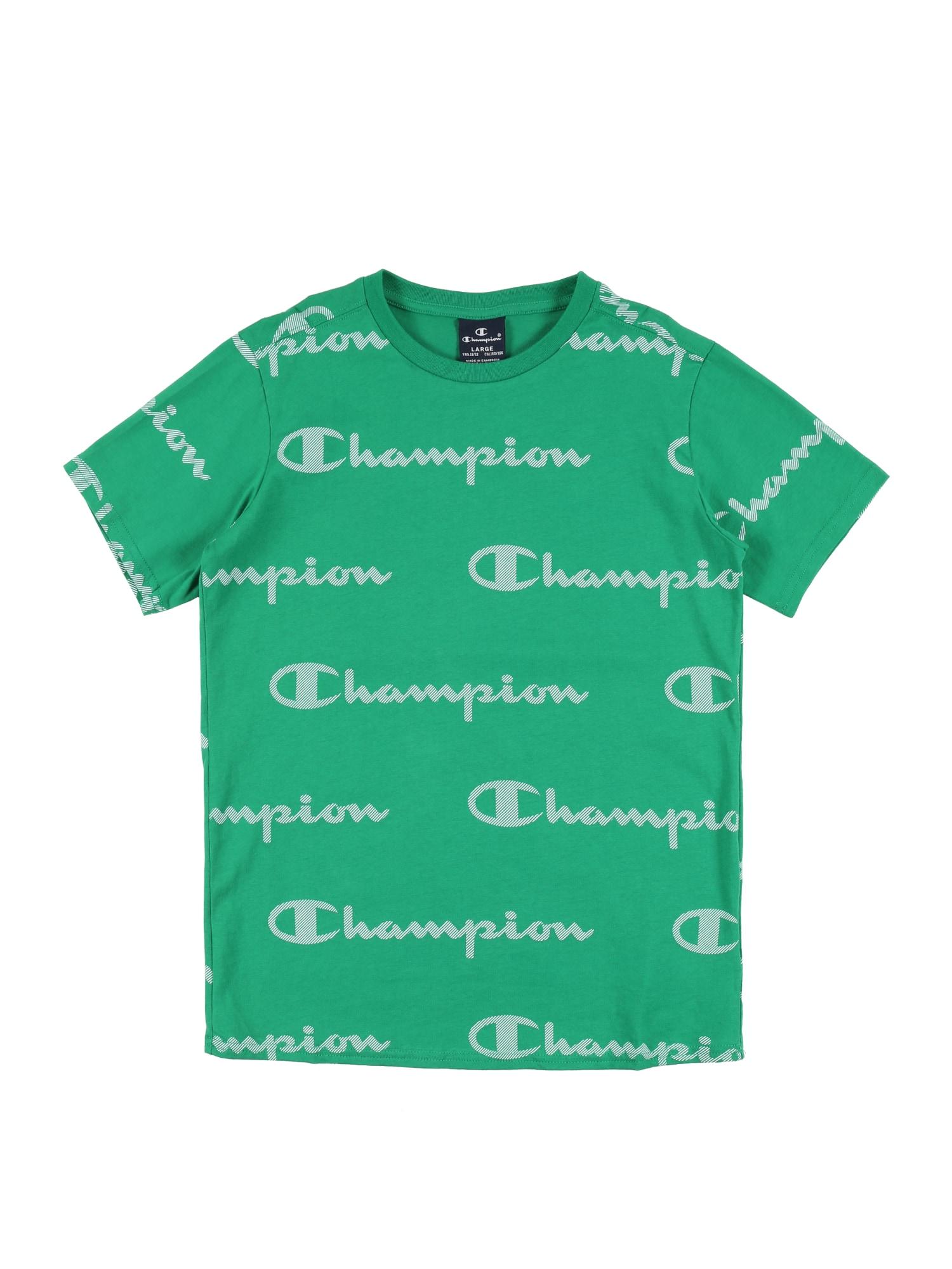 Champion Authentic Athletic Apparel Marškinėliai žalia / balta