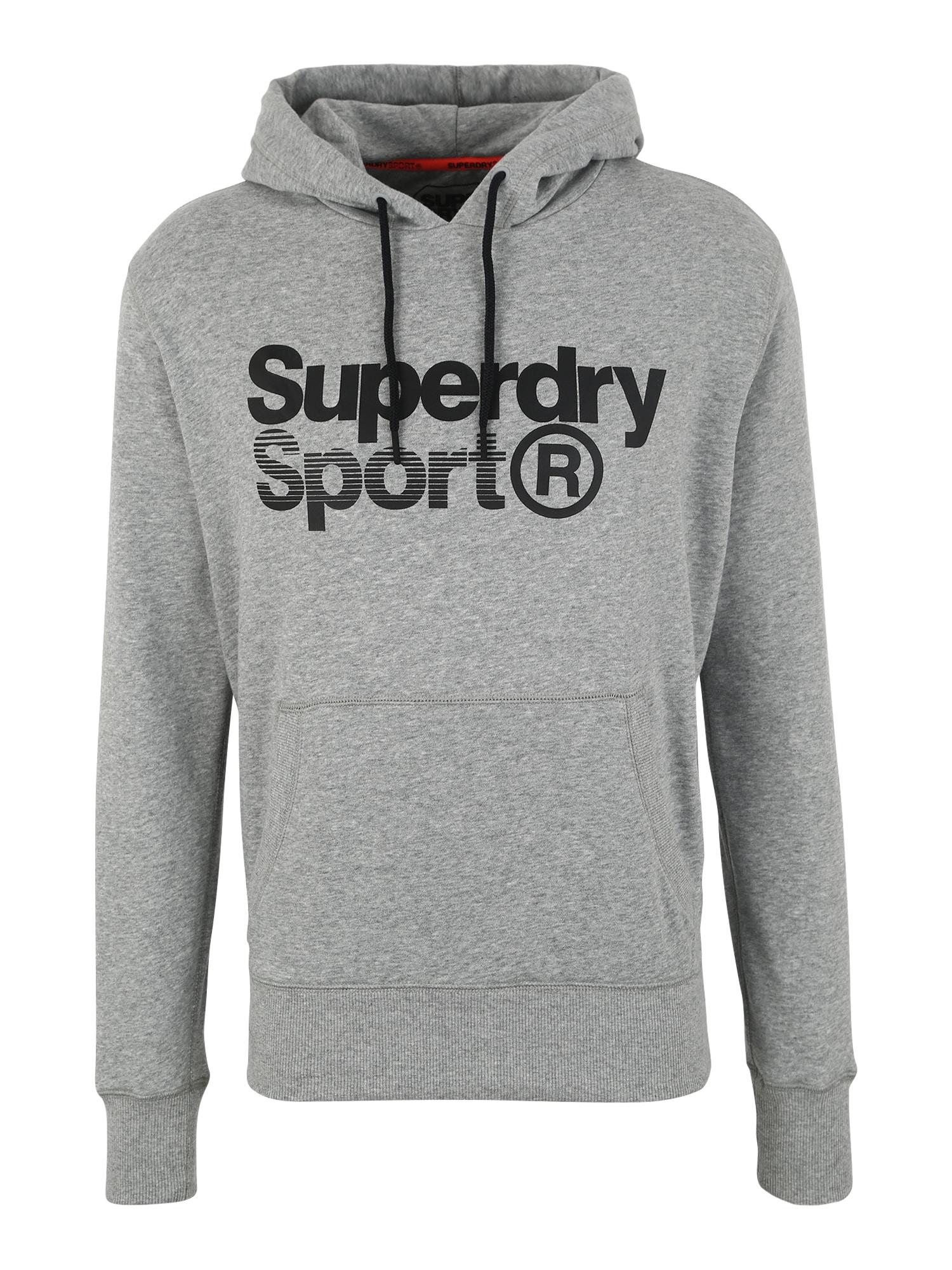 Sportovní mikina Core Sport Overhead světle šedá Superdry