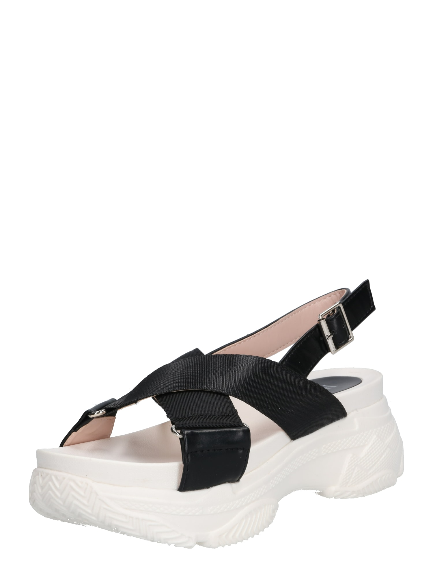 Páskové sandály JANIYA černá bílá Raid