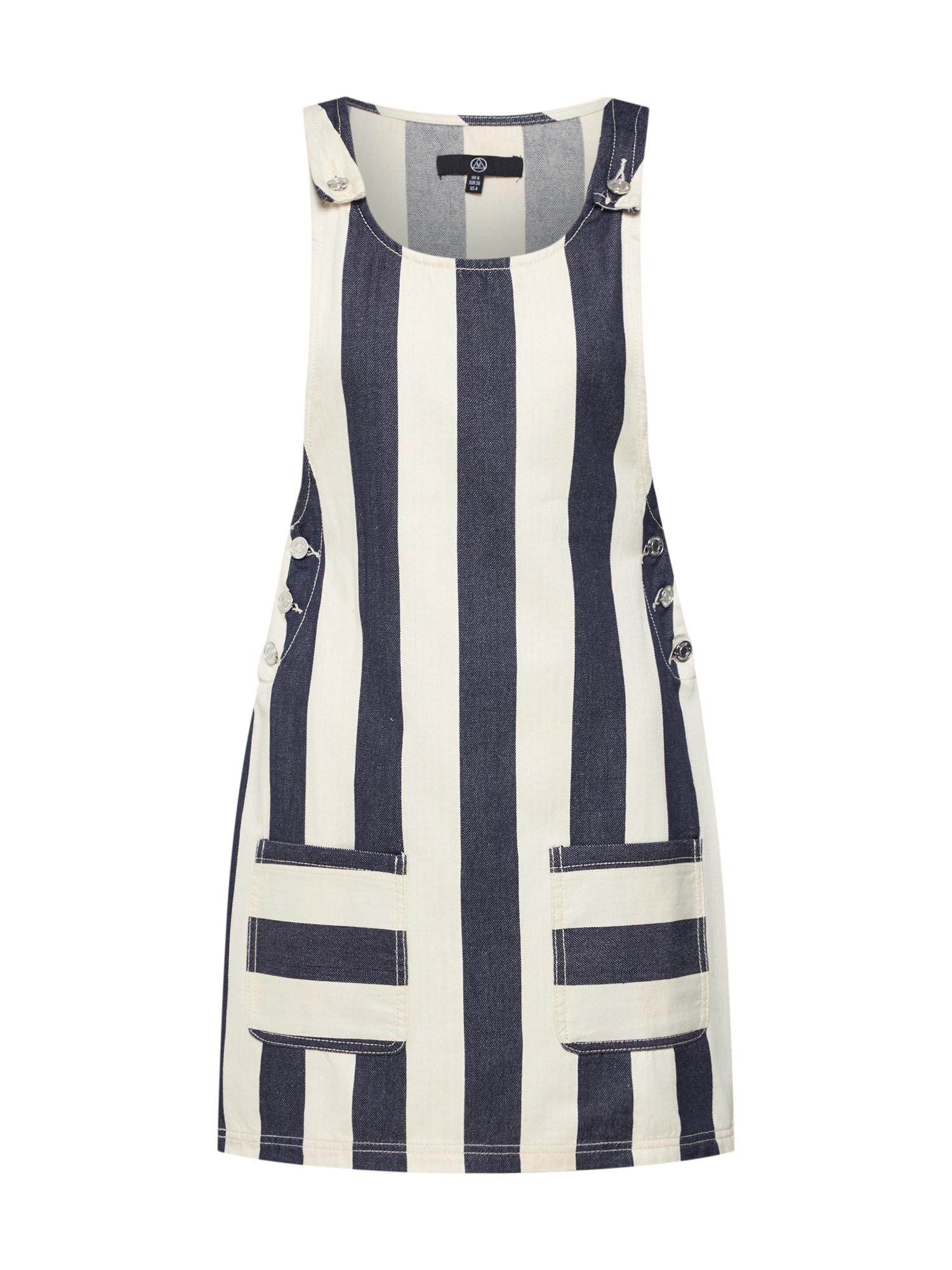 Laclová sukně námořnická modř perlově bílá Missguided