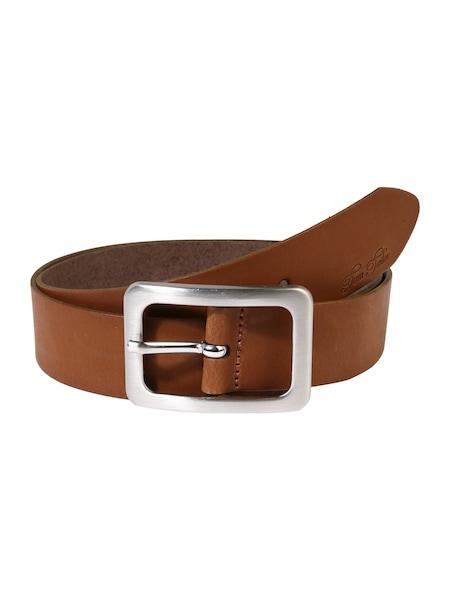 Guertel für Frauen - TOM TAILOR Ledergürtel 'soft vintage cow leather belt' cognac  - Onlineshop ABOUT YOU