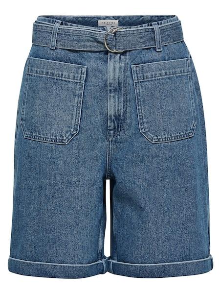 Hosen - Extra High Waist Jeansshorts › Selected Femme › blau  - Onlineshop ABOUT YOU