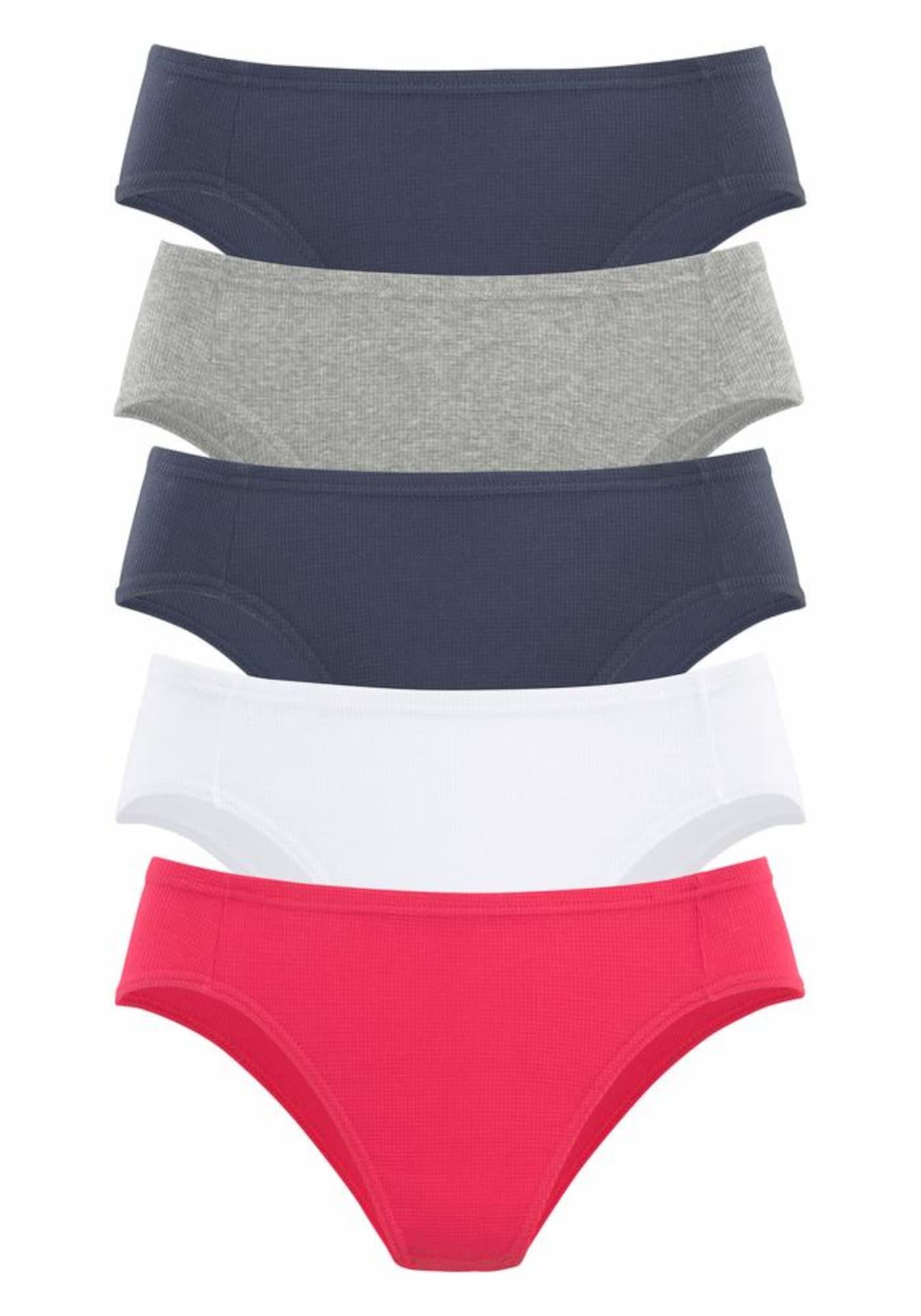 PETITE FLEUR Kalhotky  marine modrá / šedá / červená / bílá