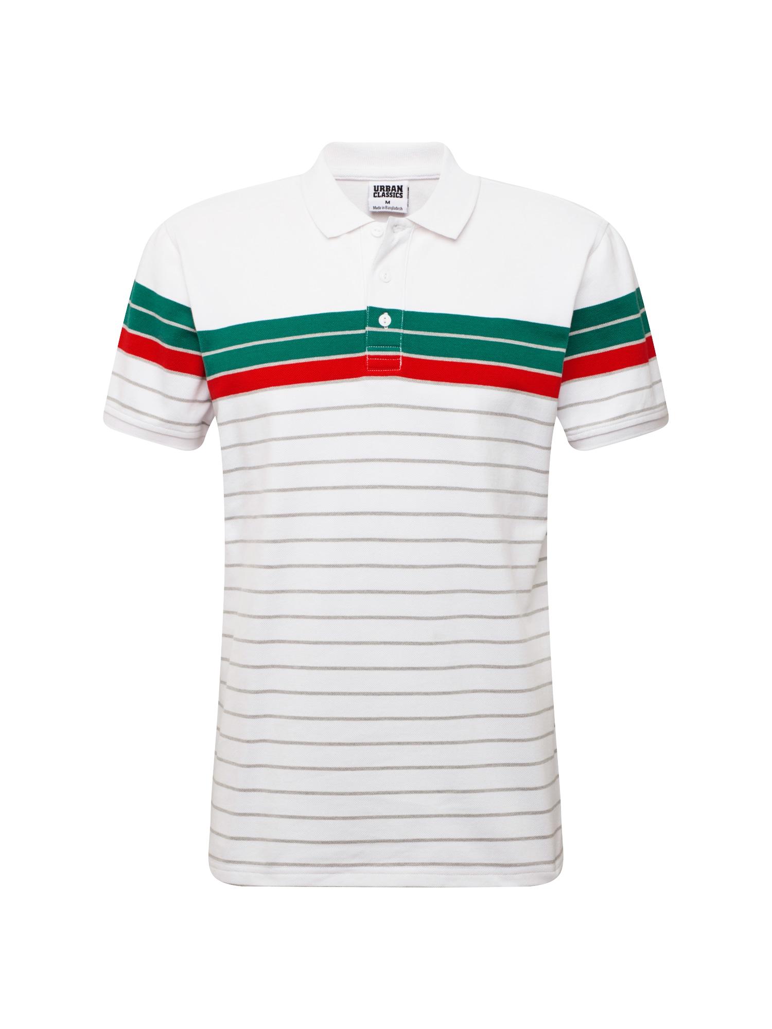 Urban Classics Tricou  verde / roșu / alb