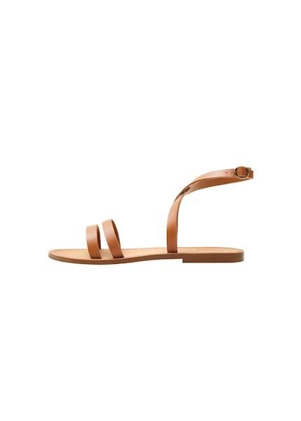Sandalen für Frauen - MANGO Sandaletten 'Luis' braun  - Onlineshop ABOUT YOU