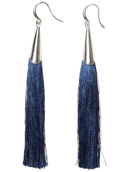 Ohrringe für Frauen - PIECES Lange Quasten Ohrringe blau  - Onlineshop ABOUT YOU