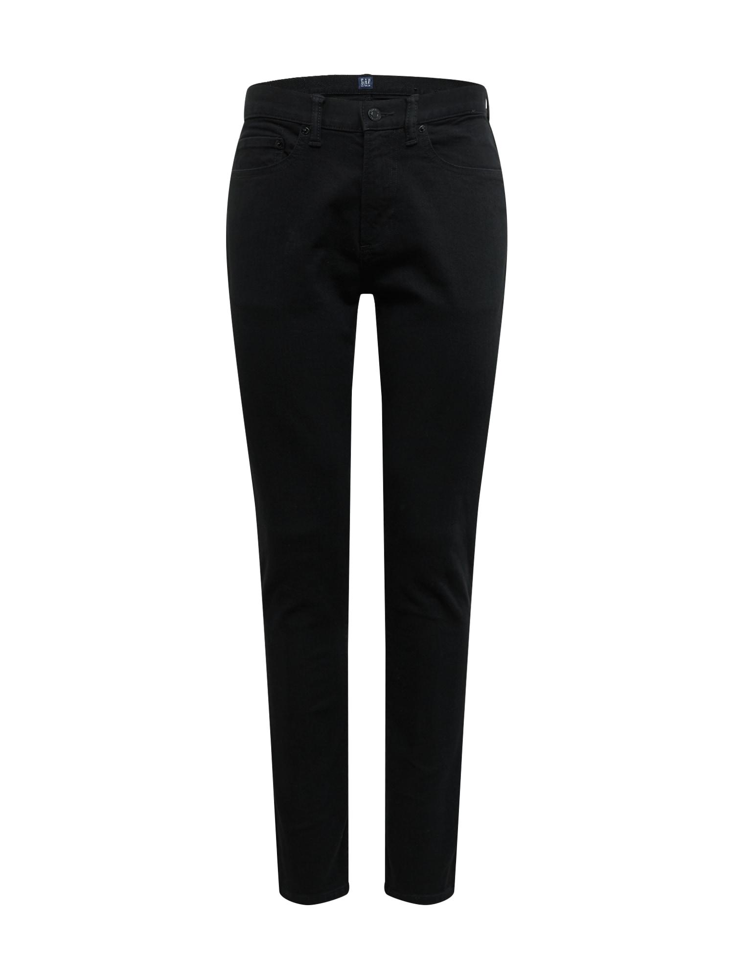 GAP Džinsai 'SKINNY BLACK' juodo džinso spalva