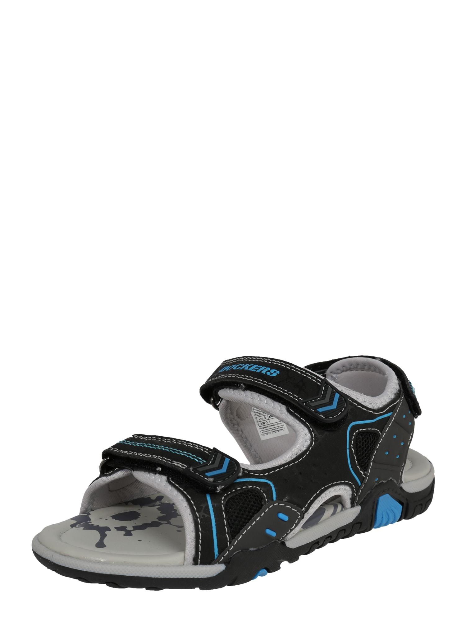 Otevřená obuv svítivě modrá světle šedá černá Dockers By Gerli