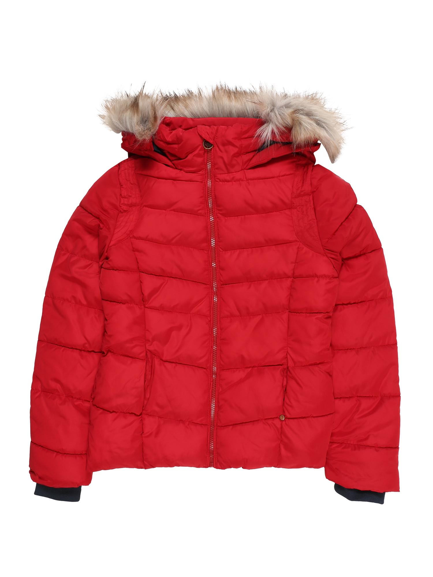 Petrol Industries Zimná bunda 'Girls Jacket Puff'  ohnivo červená