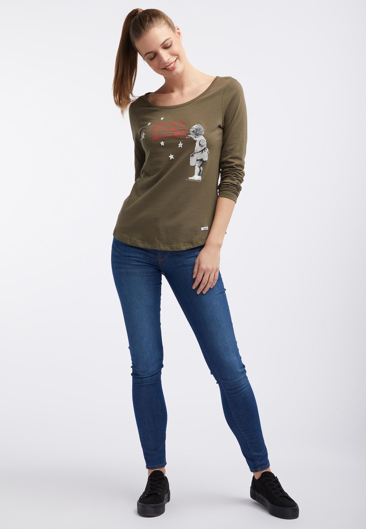 HOMEBASE, Damen Shirt, olijfgroen