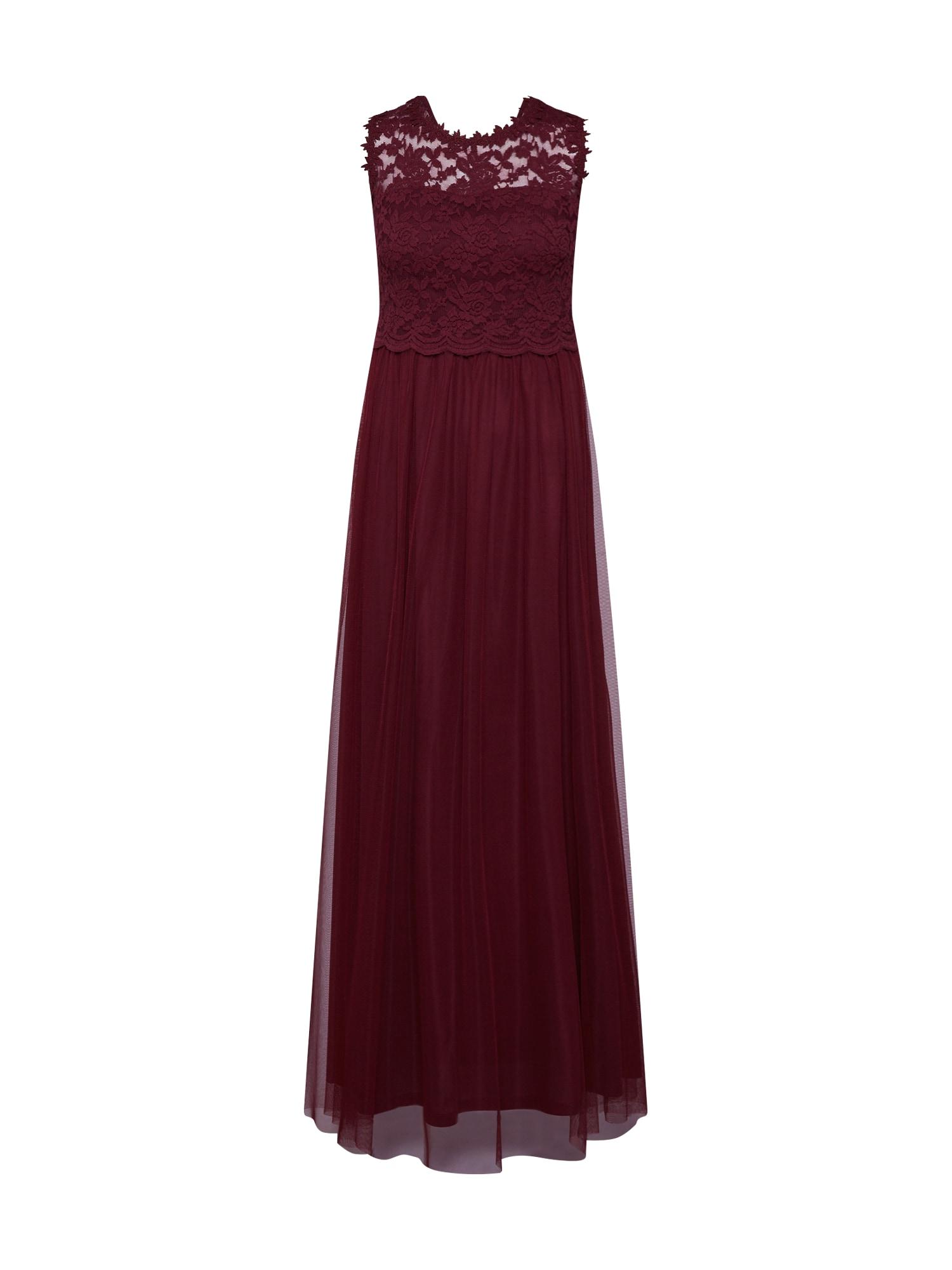 VILA Společenské šaty 'Lynnea'  vínově červená