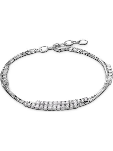 Armbaender für Frauen - C Collection Armband silber weiß  - Onlineshop ABOUT YOU