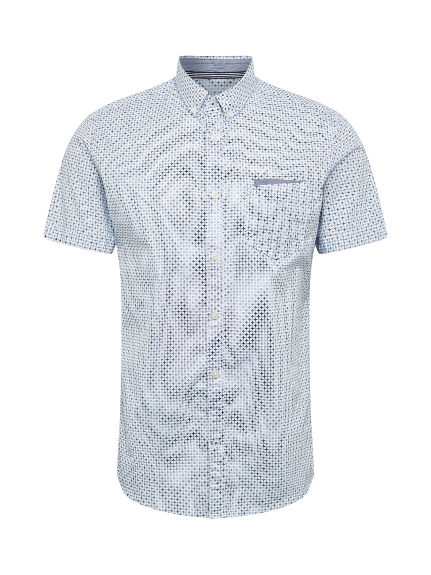TOM TAILOR Dalykiniai marškiniai mėlyna / balta