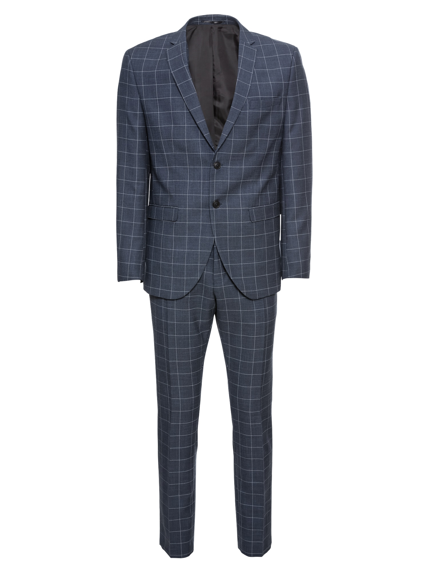 SELECTED HOMME Kostiumas 'Myloair Check Suit B Ex' tamsiai mėlyna
