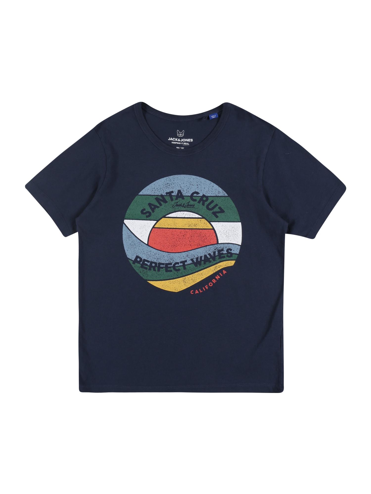 Jack & Jones Junior Marškinėliai 'JORVINTAGE DESERT TEE SS CREW NECK JR' mišrios spalvos / tamsiai mėlyna