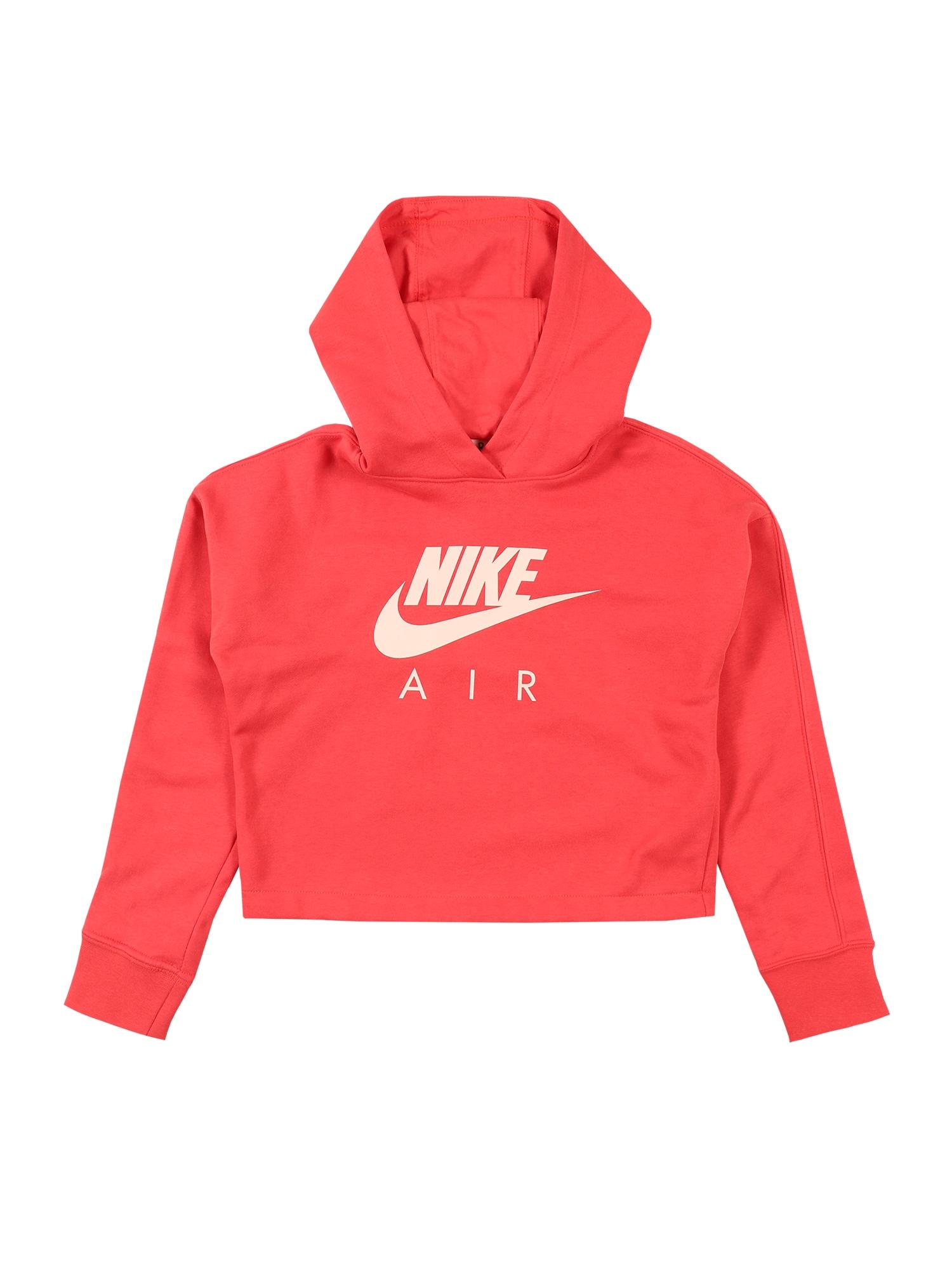 Nike Sportswear Mikina  koralová / červené
