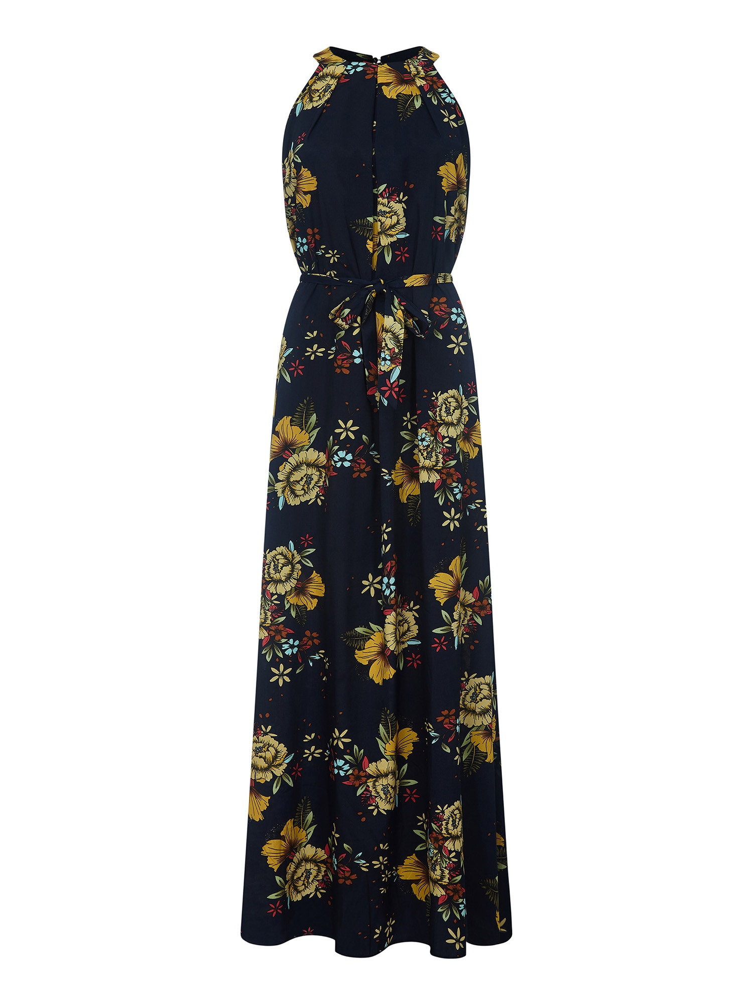 Letní šaty námořnická modř žlutá mix barev Mela London