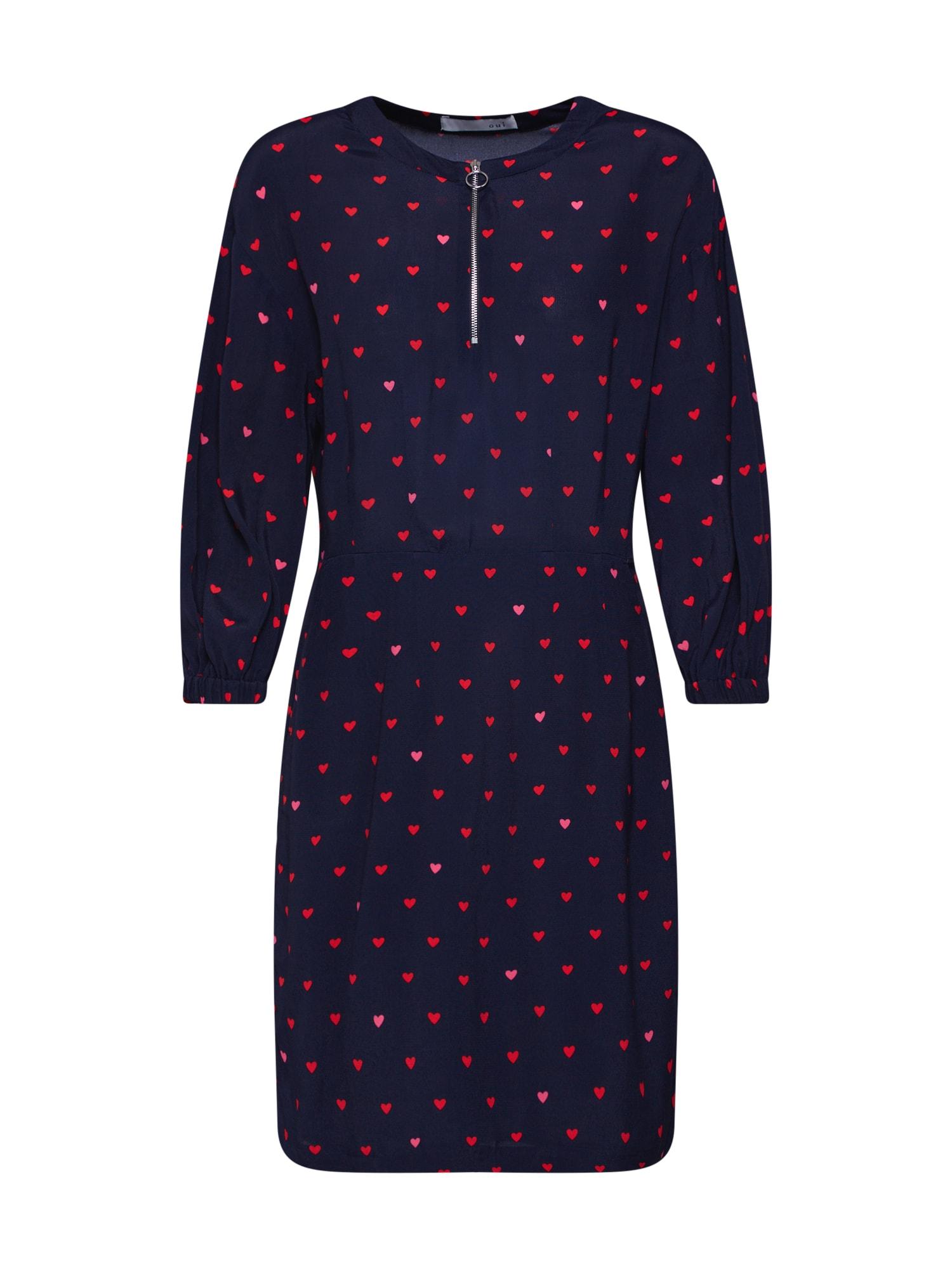 Letní šaty Kleid tmavě modrá červená OUI
