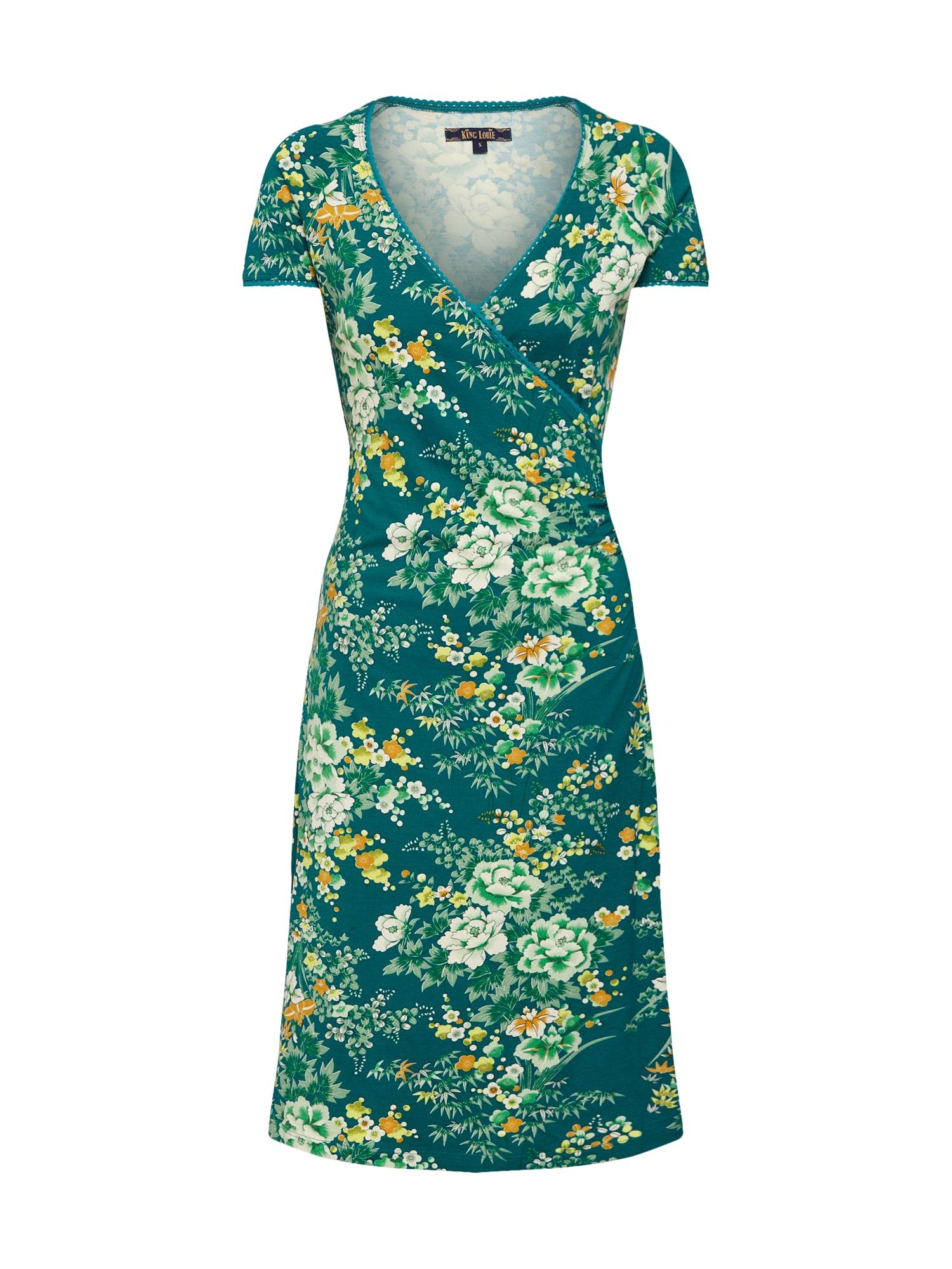 Letní šaty Makura zelená světle zelená mix barev King Louie