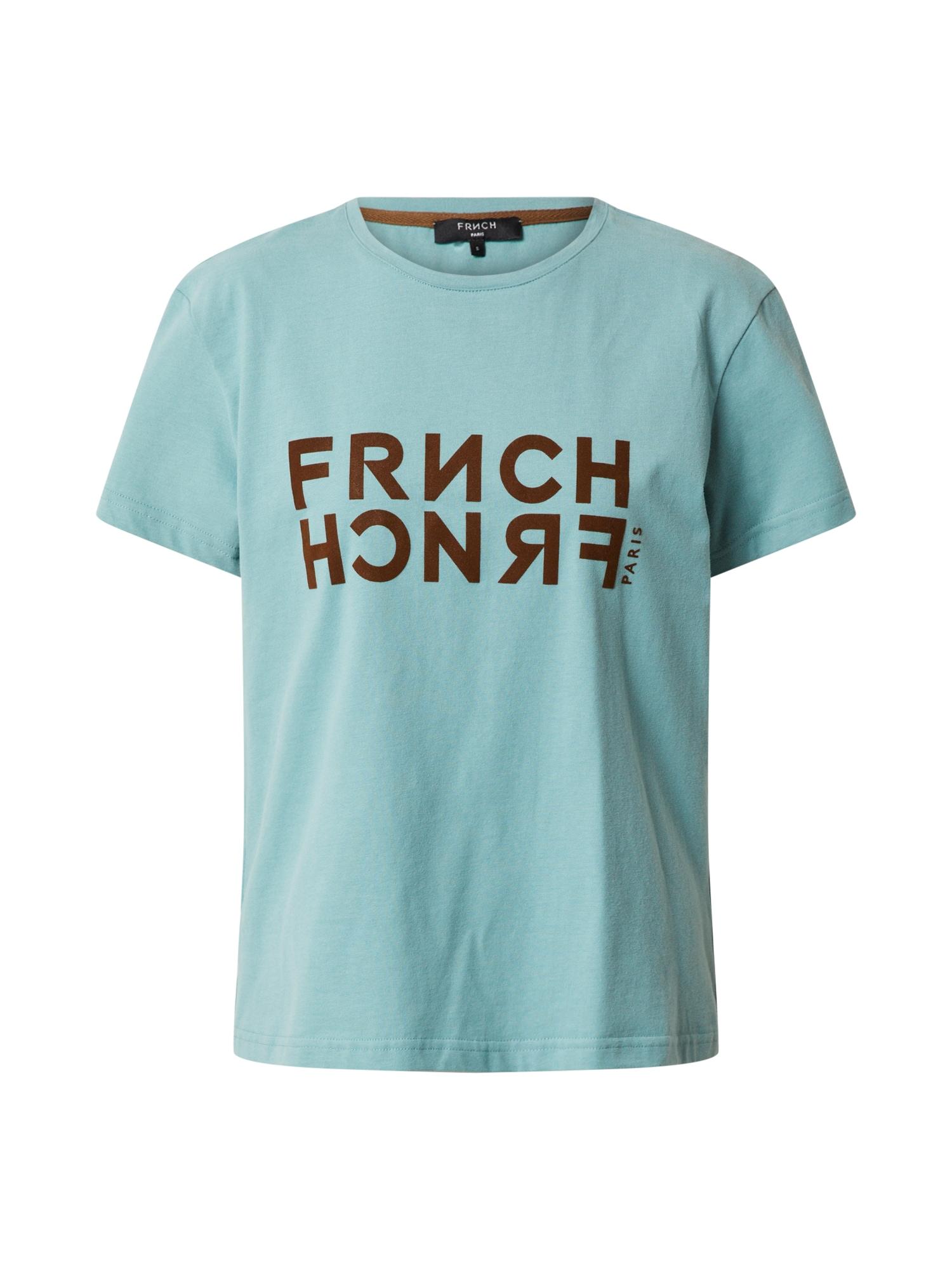 FRNCH PARIS Marškinėliai nefrito spalva / tamsiai ruda